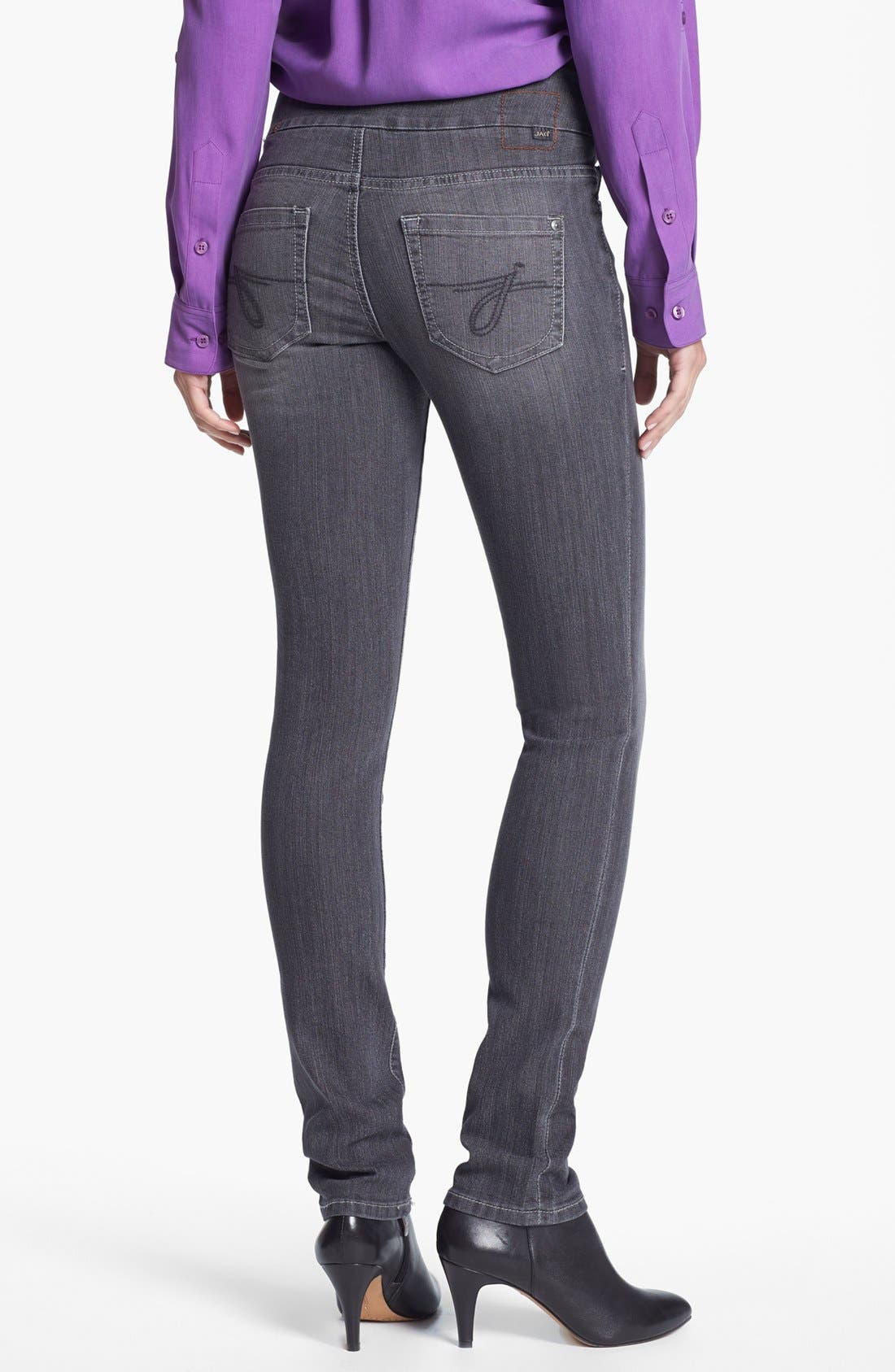 Alternate Image 2  - Jag Jeans 'Malia' Slim Leg Stretch Jeans (Grey) (Petite)