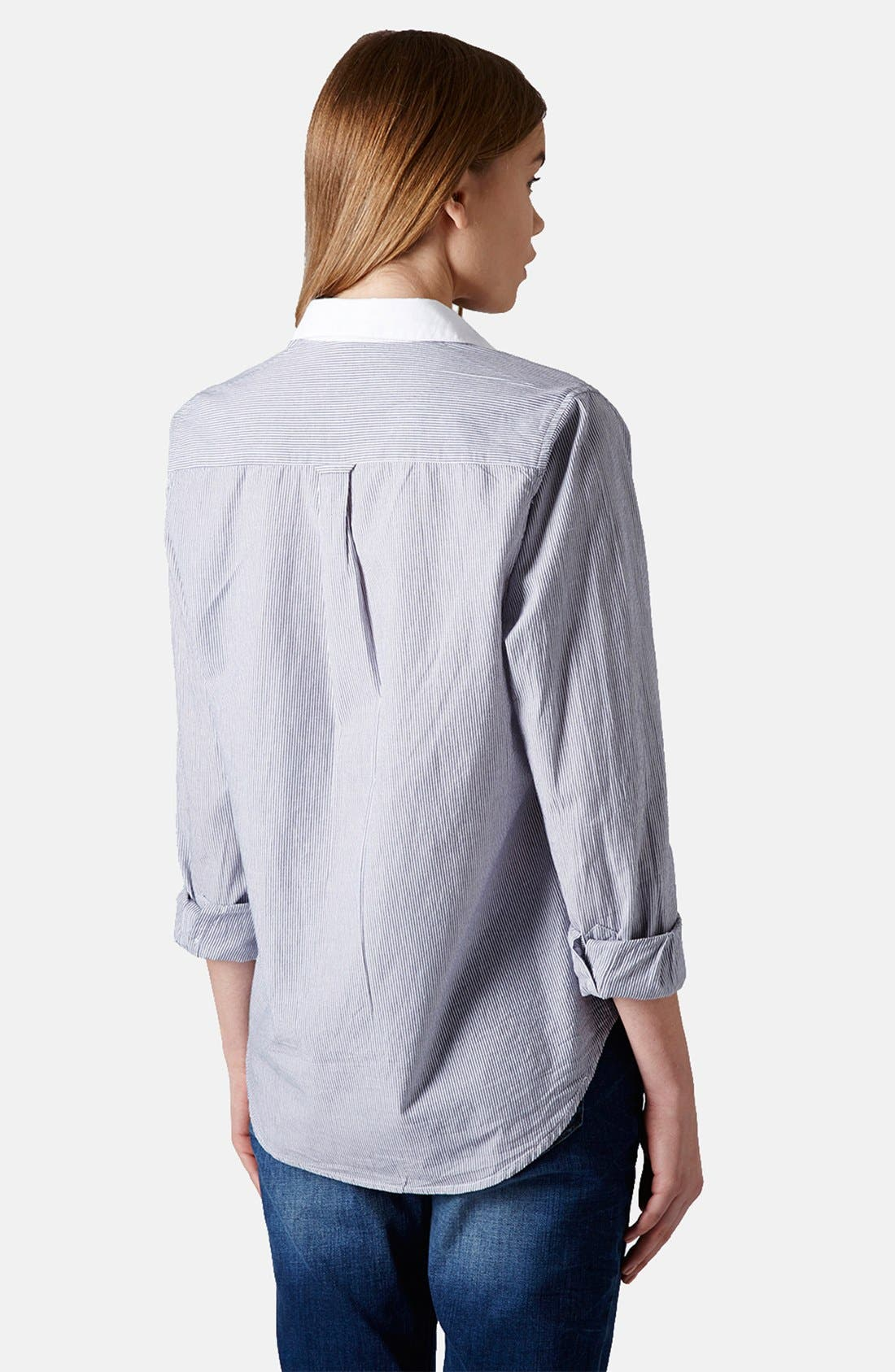 Alternate Image 2  - Topshop Embroidered Cotton Shirt