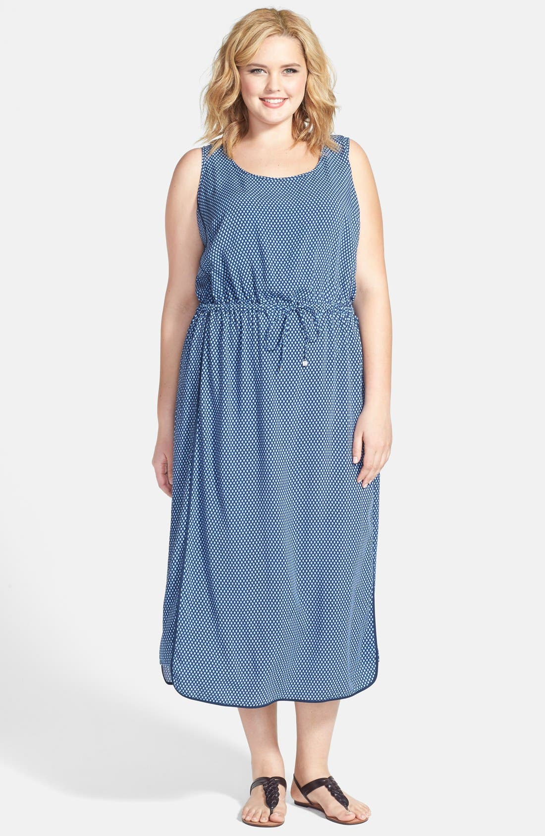 Main Image - Two by Vince Camuto 'Stylish Geo' Maxi Dress (Plus Size)
