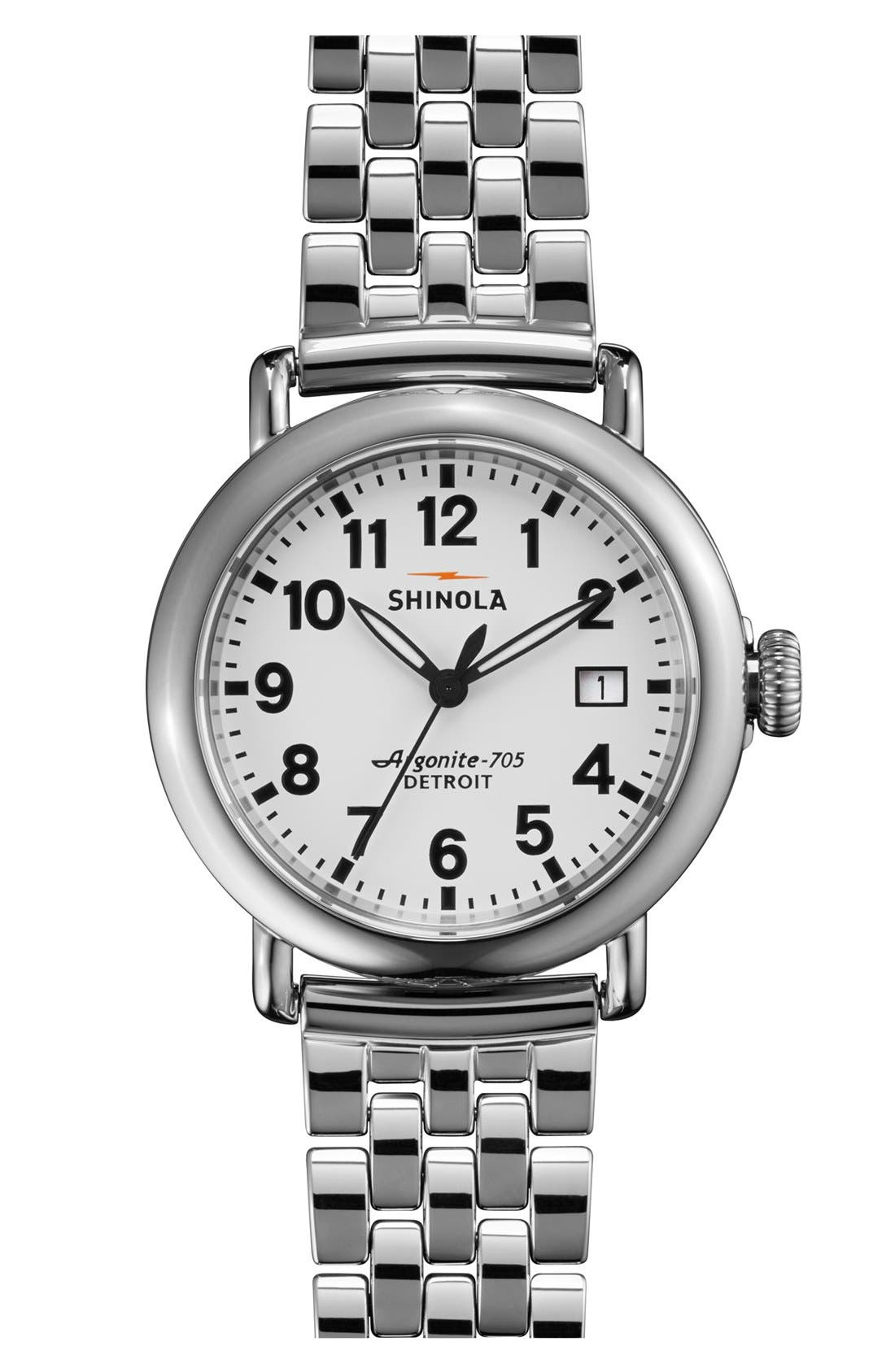 Alternate Image 1 Selected - Shinola 'The Runwell' Bracelet Watch, 36mm