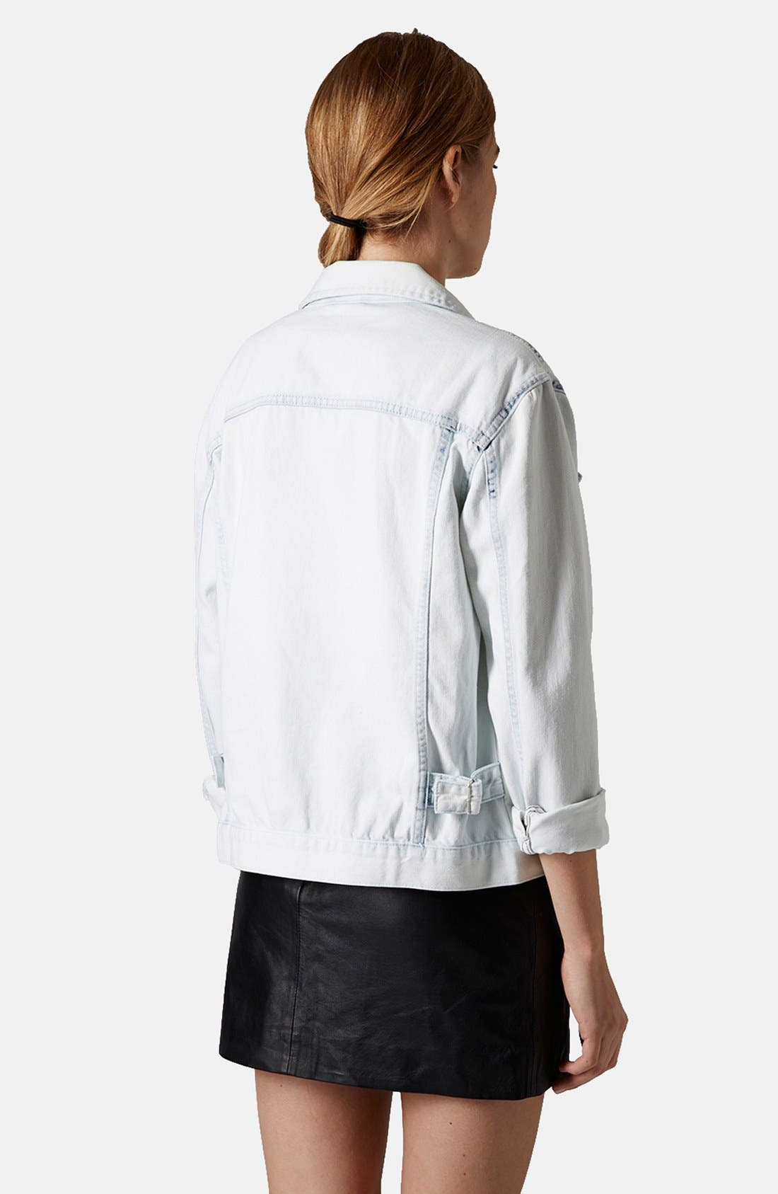 Alternate Image 2  - Topshop Moto Denim Jacket
