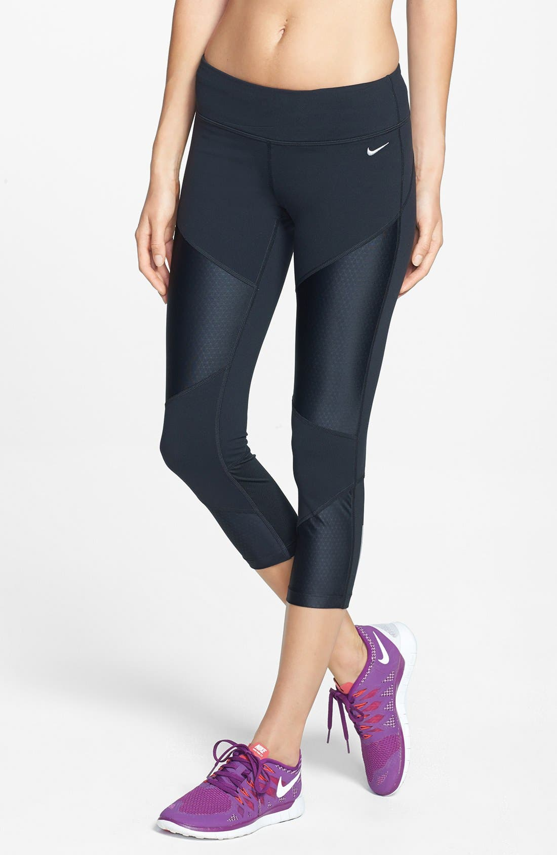 Alternate Image 1 Selected - Nike 'Strut' Dri-FIT Crop Tights