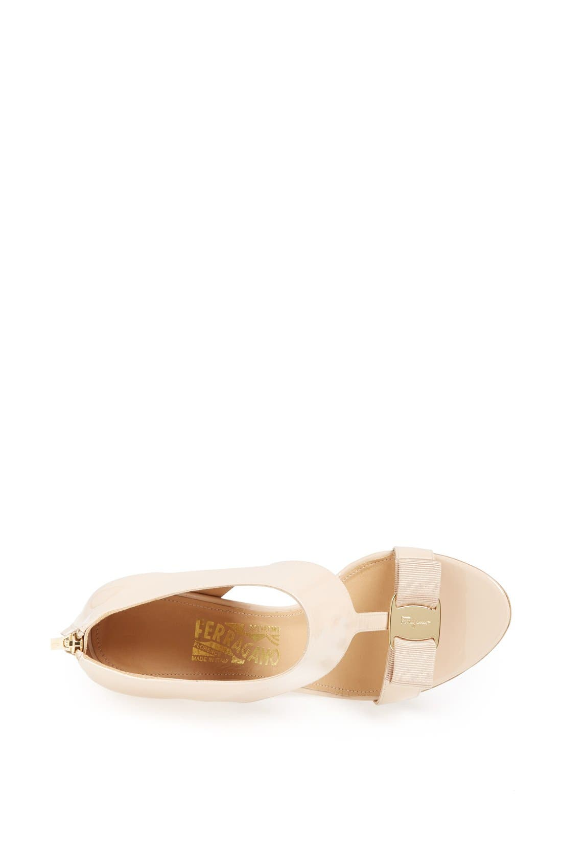 Alternate Image 4  - Salvatore Ferragamo 'Pellas' Suede Sandal