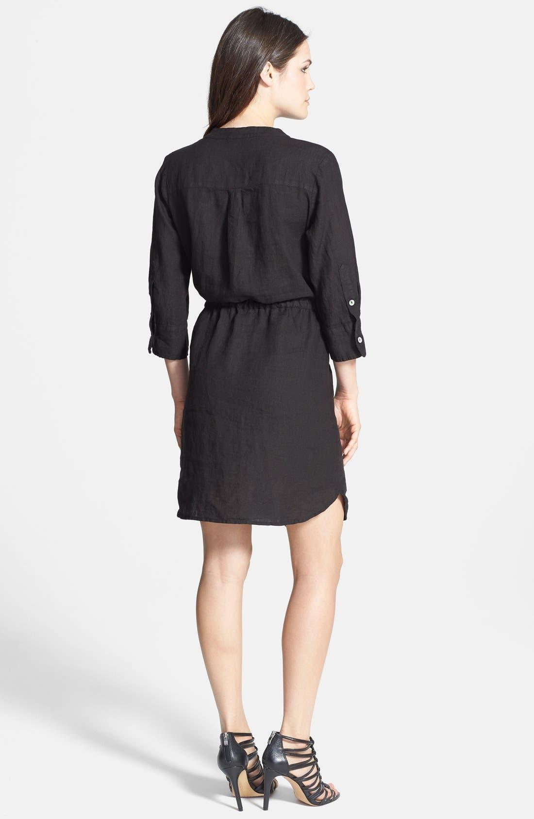 Alternate Image 2  - Allen Allen Linen Shirtdress