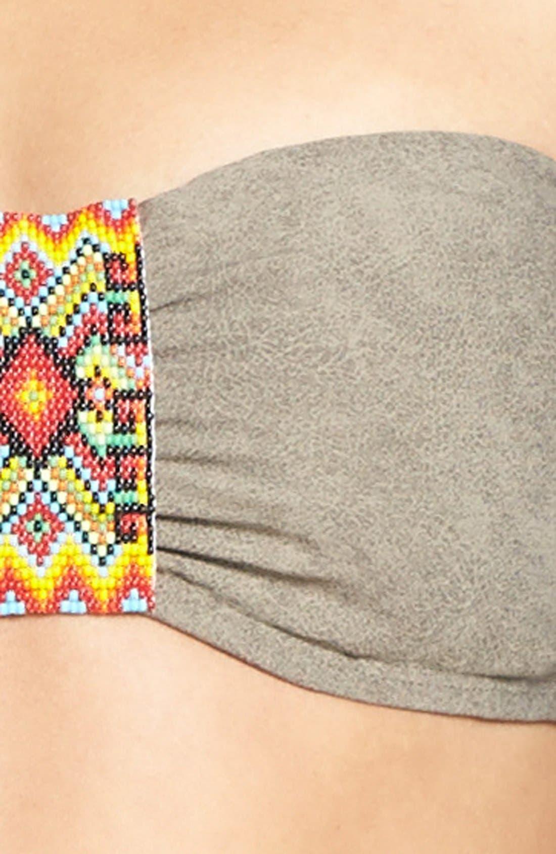 Alternate Image 5  - PilyQ 'Chuchi' Sueded Bead Underwire Bandeau Bikini Top