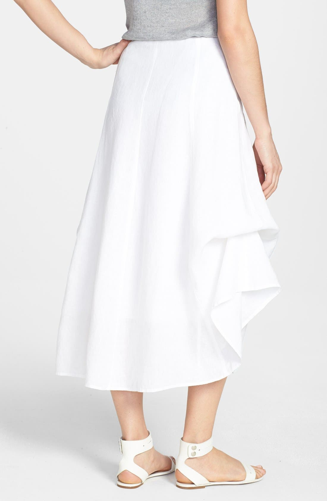 Alternate Image 2  - Eileen Fisher A-Line Linen Skirt (Regular & Petite)