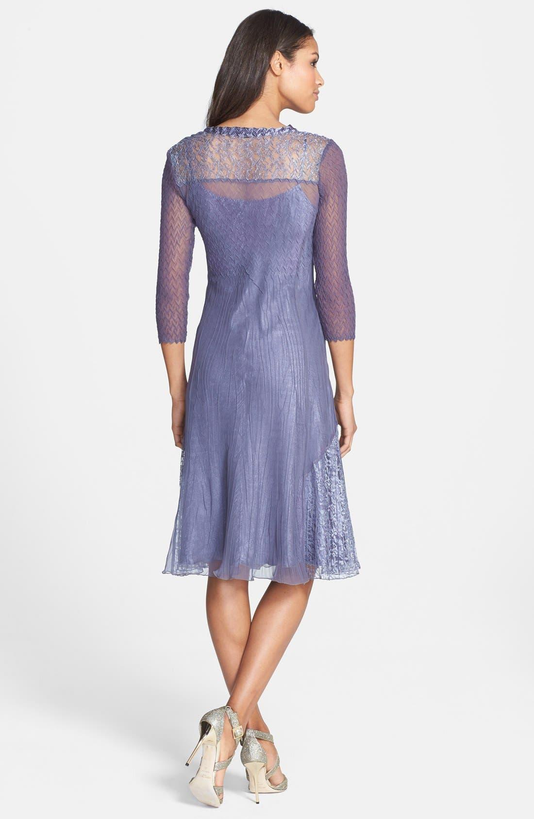 Alternate Image 2  - Komarov V-Neck Chiffon Dress