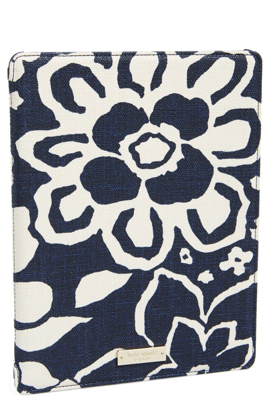 Main Image - kate spade new york 'monaco floral' iPad 2 & 3 folio