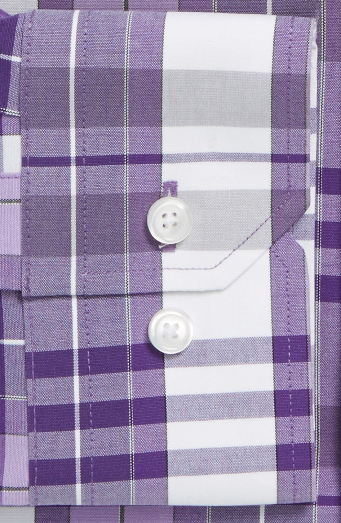 Alternate Image 2  - Calibrate Trim Fit Non-Iron Stretch Plaid Dress Shirt