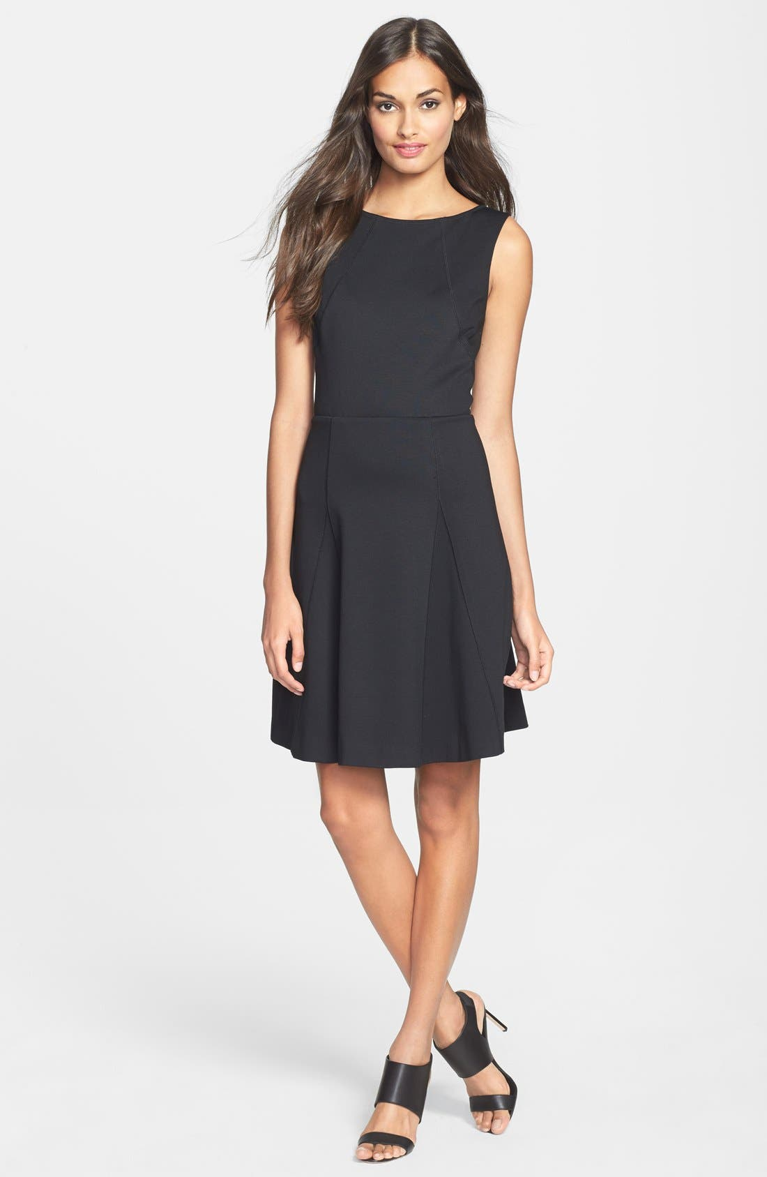 Alternate Image 1 Selected - Trina Turk 'Delphine' Cutout Ponte Knit Fit & Flare Dress