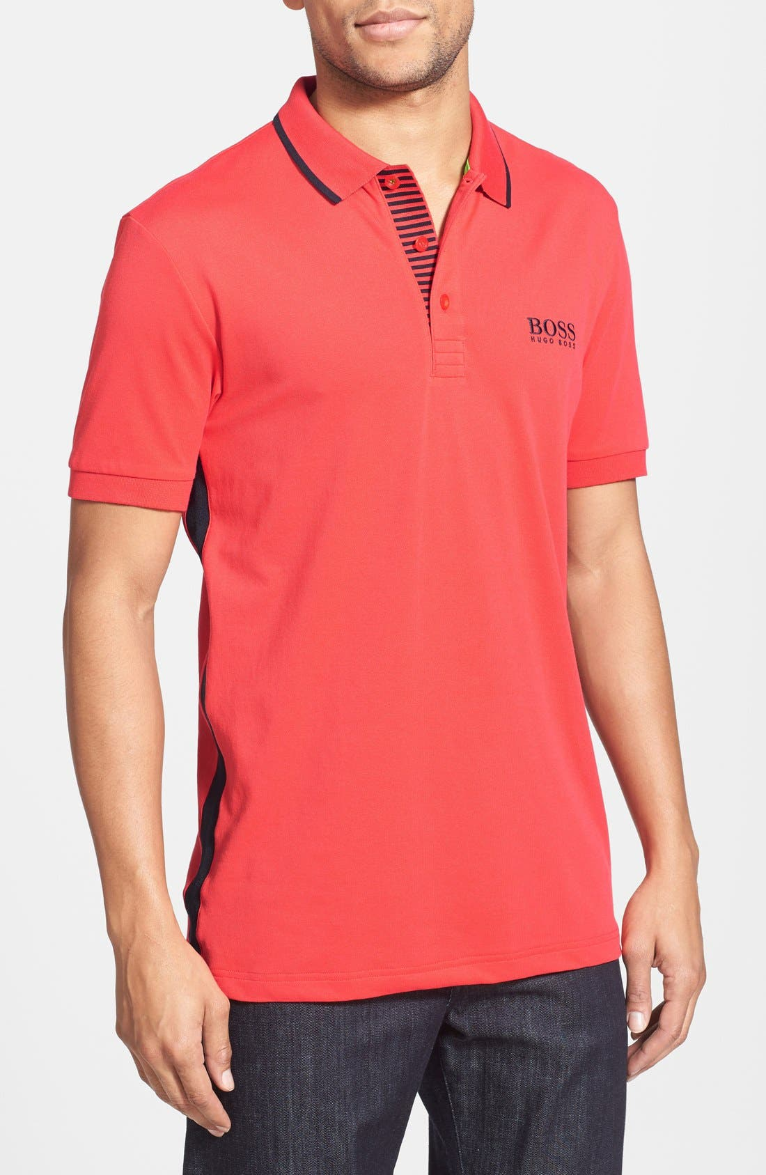 Alternate Image 1 Selected - BOSS Green 'Paddy Pro 1' Moisture Wicking Stretch Polo