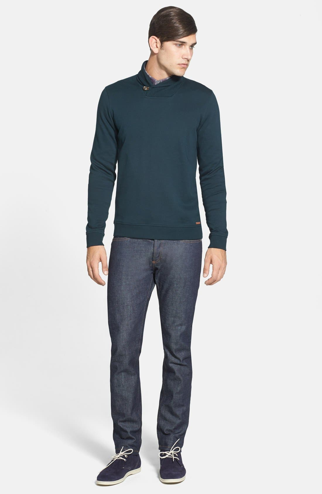 Alternate Image 4  - Ted Baker London 'SFINX' Shawl Collar Jersey Pullover