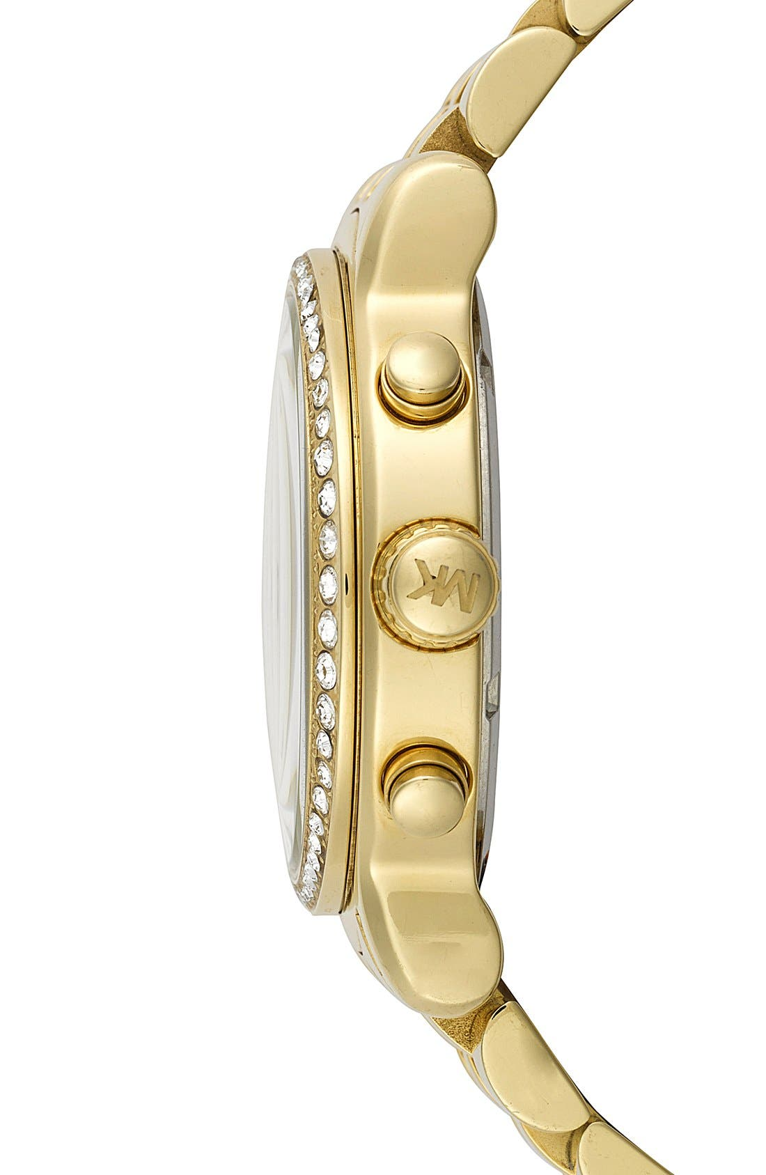 Alternate Image 3  - Michael Kors 'Baisley' Crystal Bezel Chronograph Bracelet Watch, 41mm (Nordstrom Exclusive)
