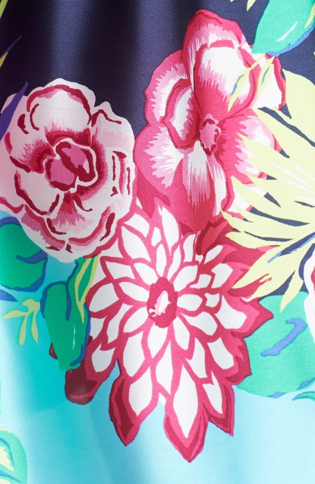 Alternate Image 3  - Josie 'Rimma' Print Satin & Lace Chemise