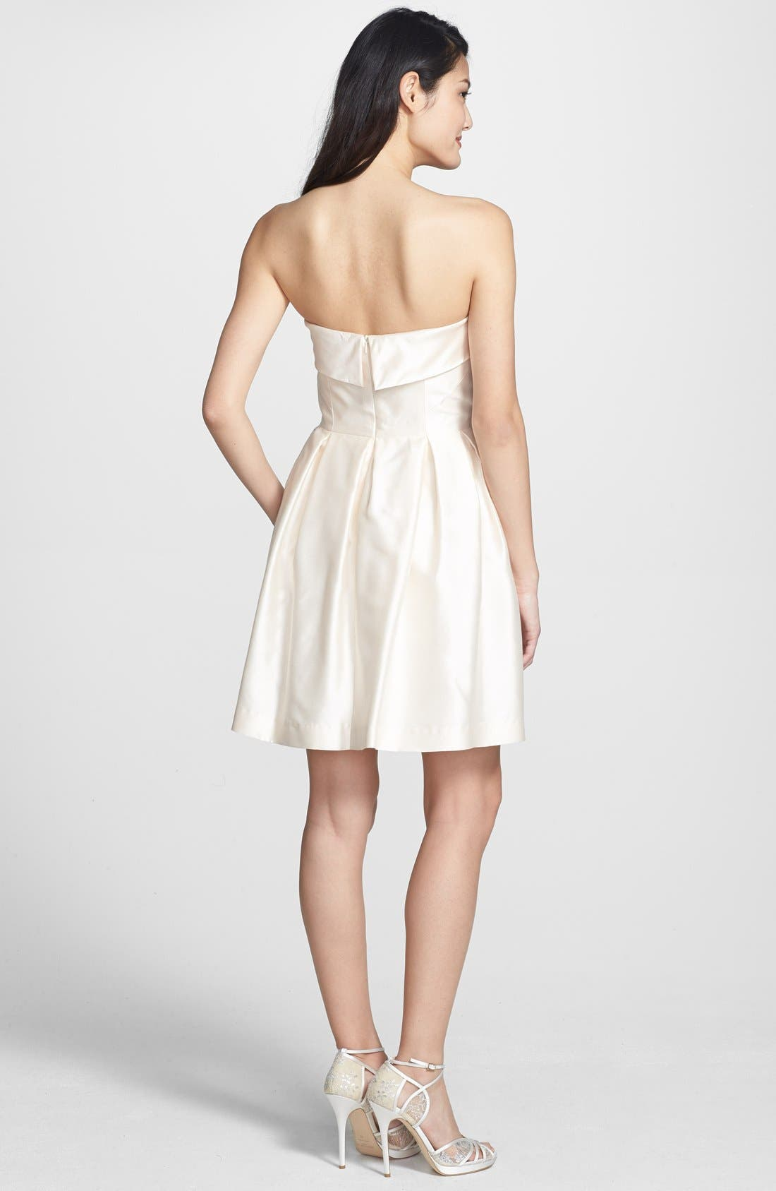 Alternate Image 2  - Shoshanna 'Shaina' Silk Satin Fit & Flare Dress