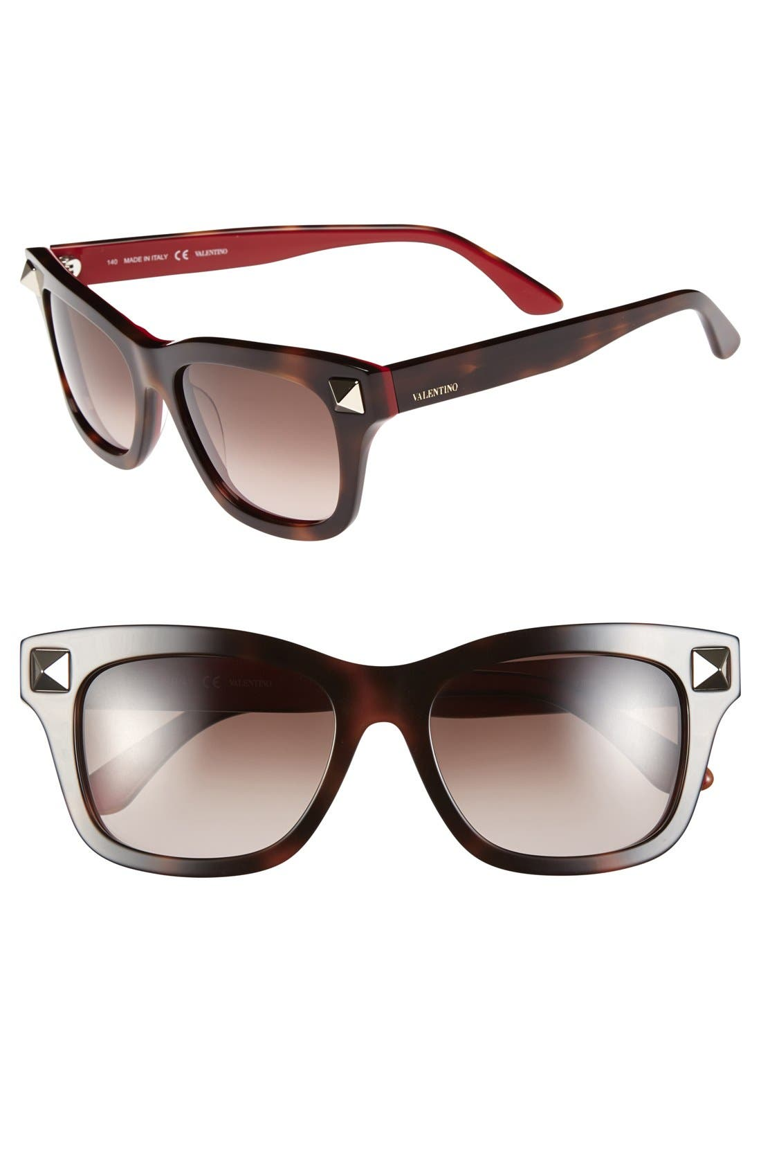 Main Image - Valentino 'Rockstud' 53mm Studded Sunglasses