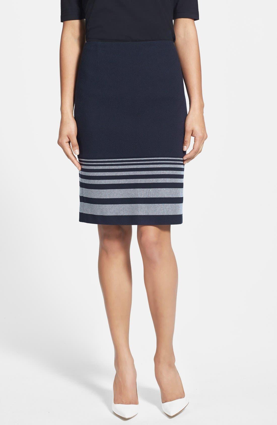 Alternate Image 1 Selected - BOSS 'Valyn' Stripe Skirt