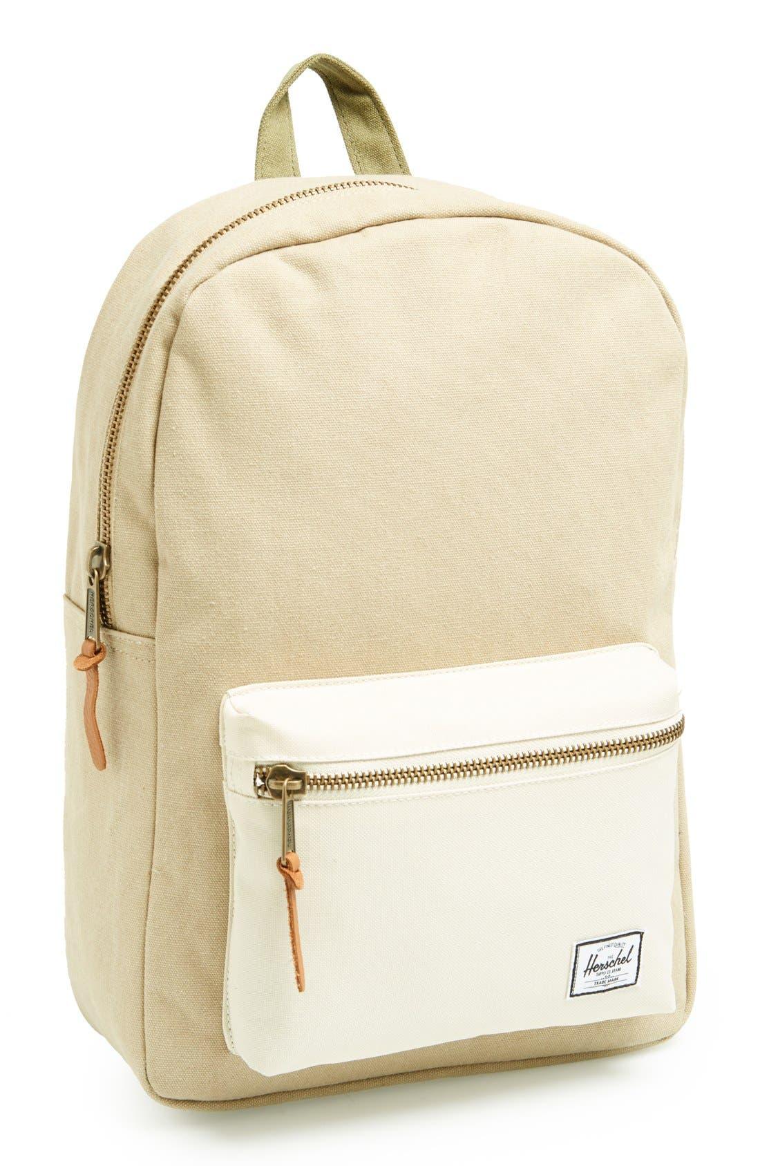 Alternate Image 1 Selected - Herschel Supply Co. 'Settlement Mid-Volume' Canvas Laptop Backpack (13 Inch)