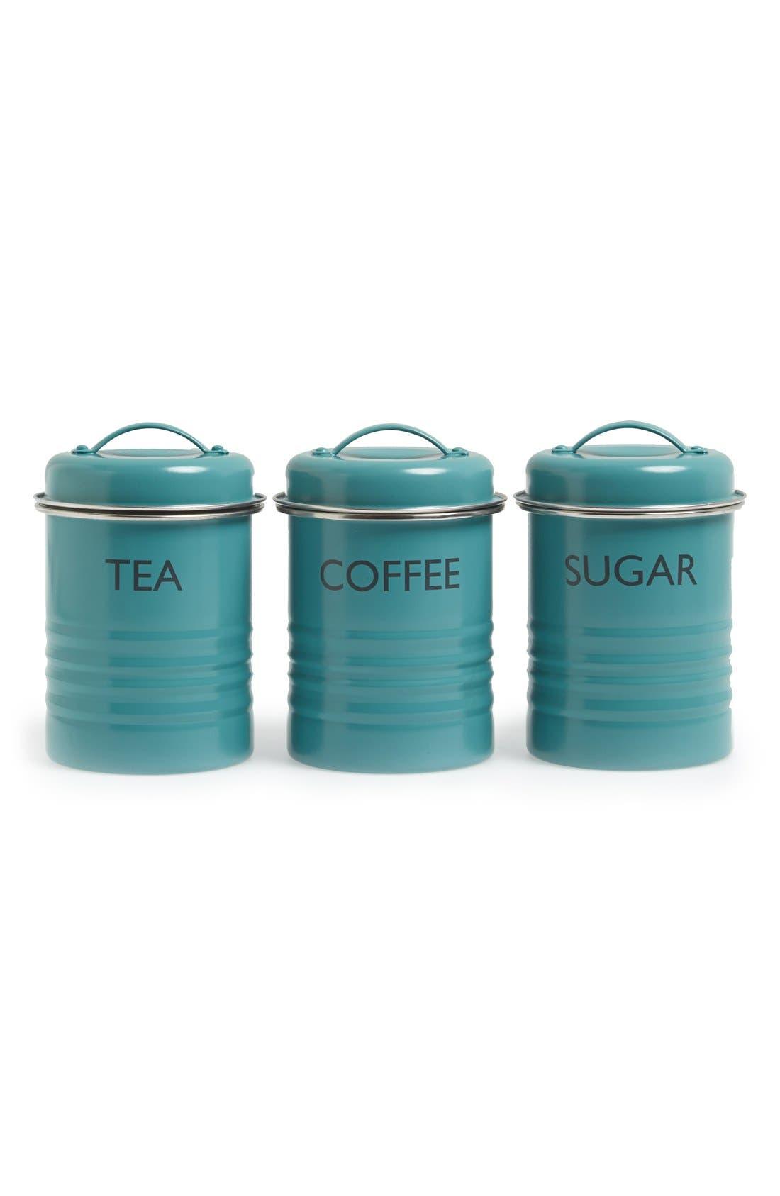 Main Image - Typhoon 'Vintage Kitchen - Summer House' Enamel Tea, Coffee & Sugar Storage Canisters (Set of 3)