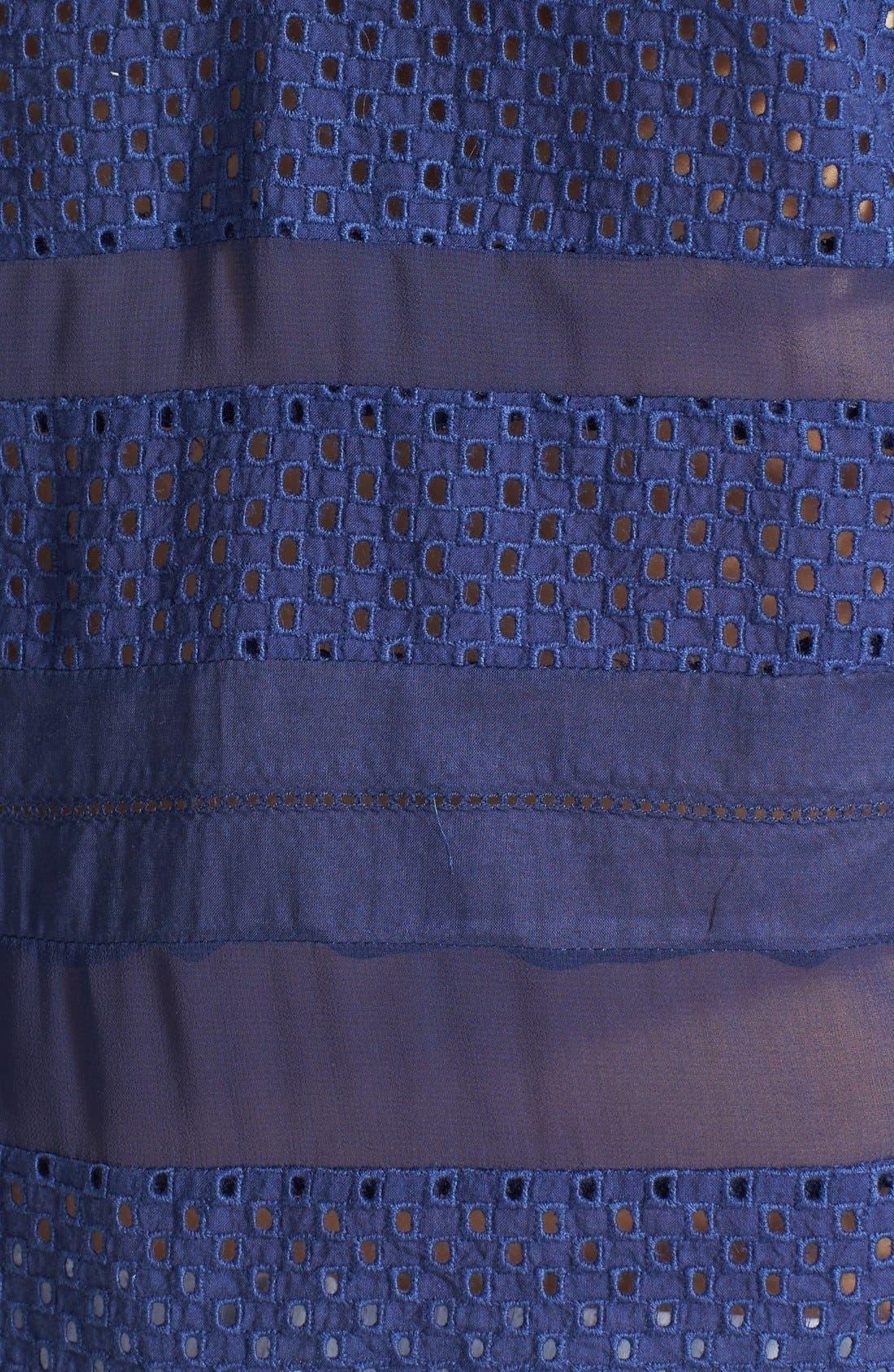 Alternate Image 3  - Chelsea28 Mixed Media Short Sleeve Top