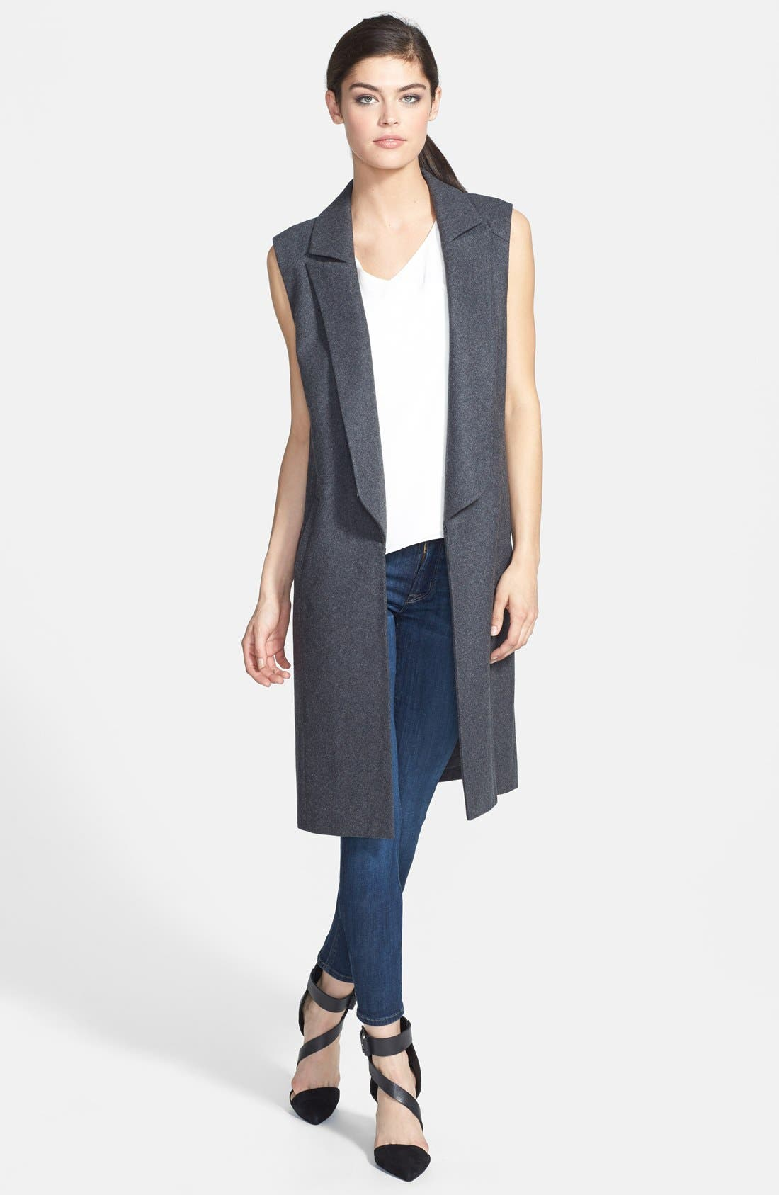 Main Image - Trouvé Sleeveless Wool Blend Jacket