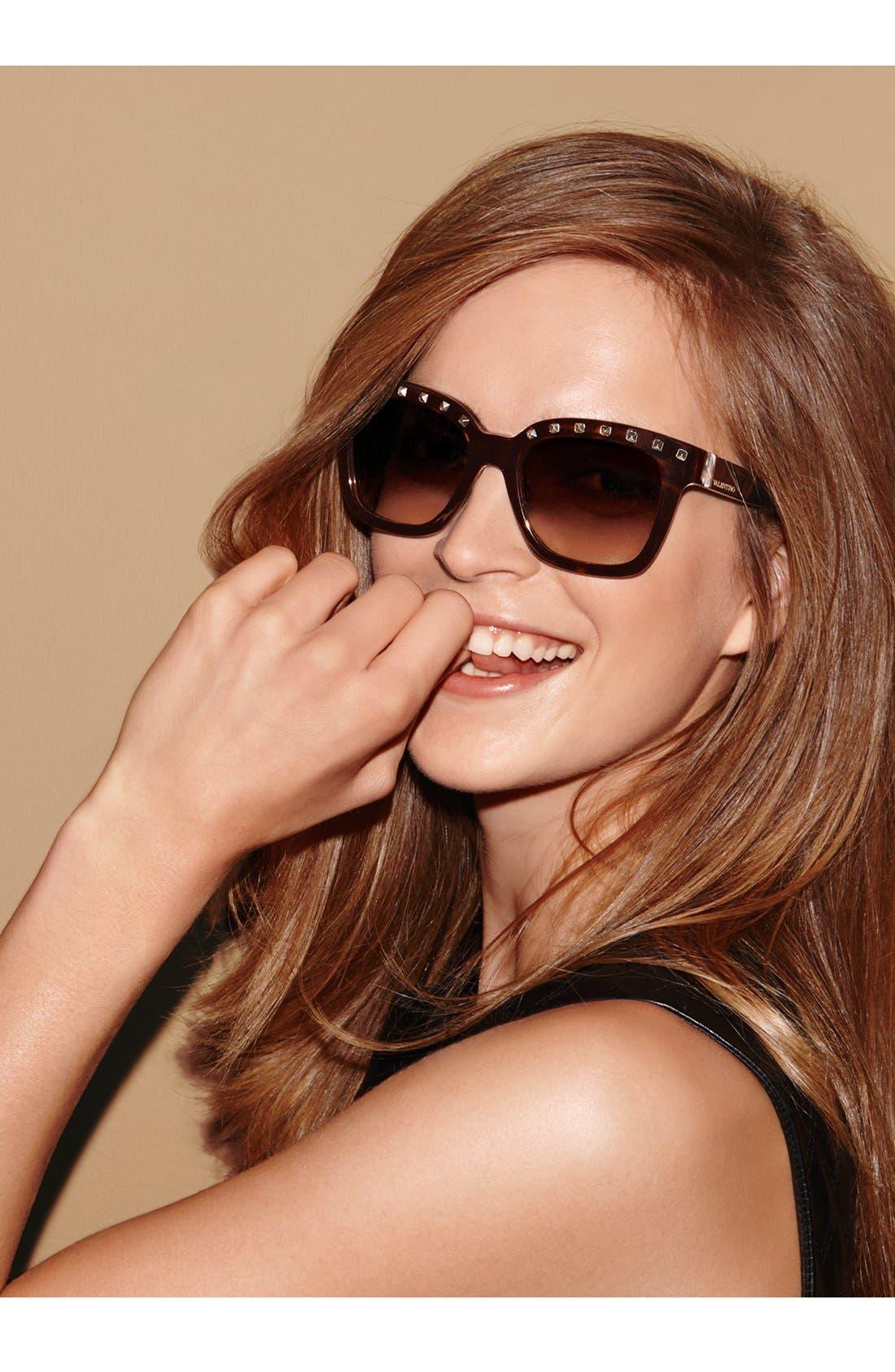 Alternate Image 2  - Valentino 'Rockstud' 52mm Sunglasses