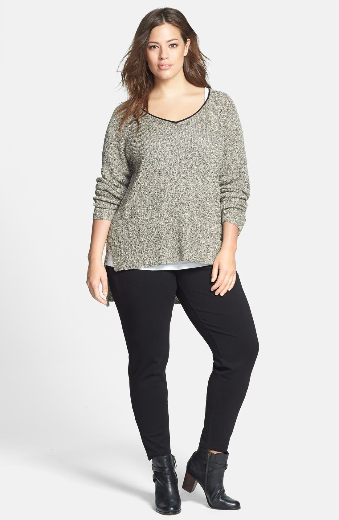 Alternate Image 4  - Eileen Fisher Leggings (Plus Size) (Online Only)