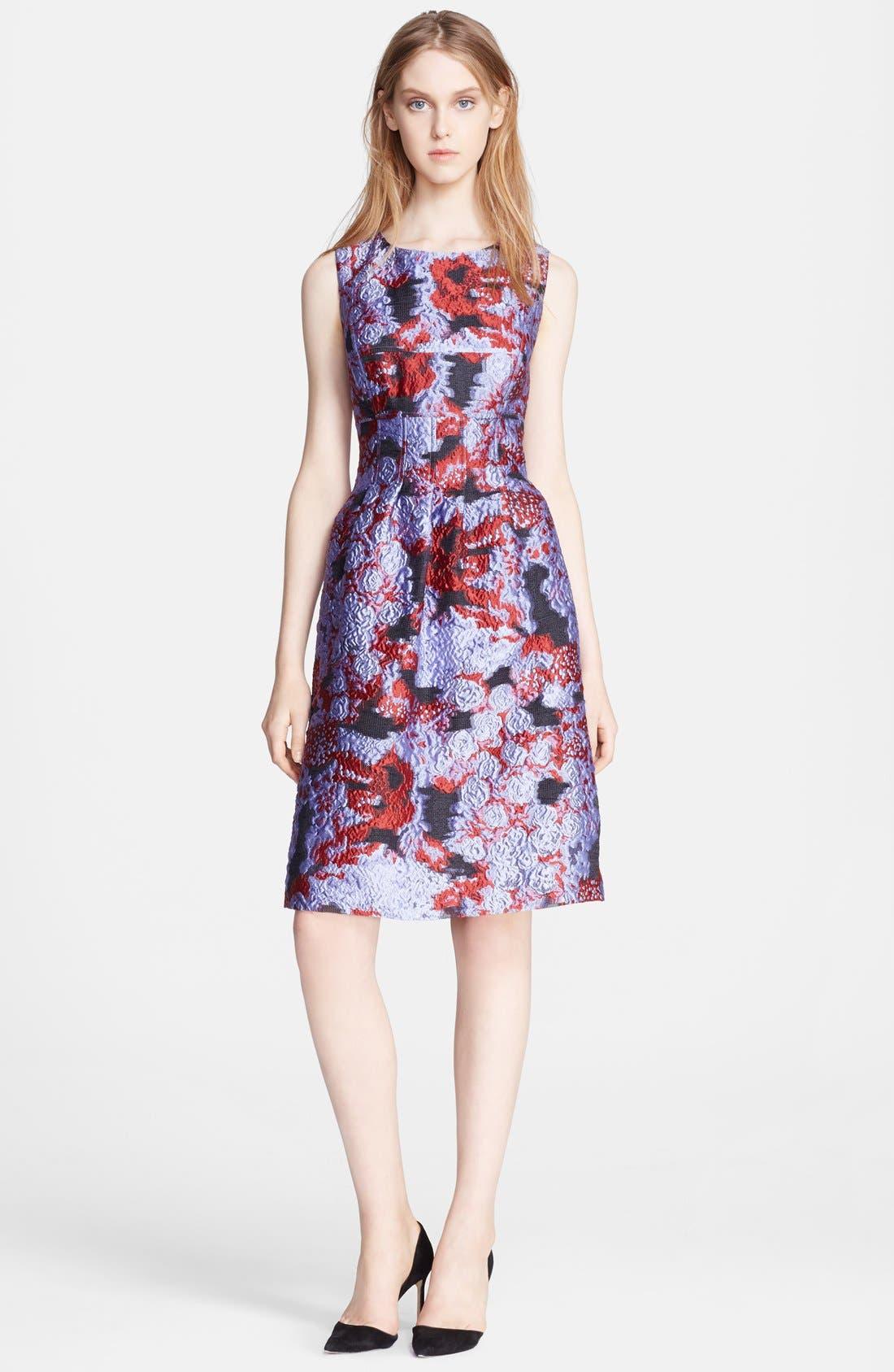 Alternate Image 1 Selected - Lela Rose Print Fil Coupe Sheath Dress