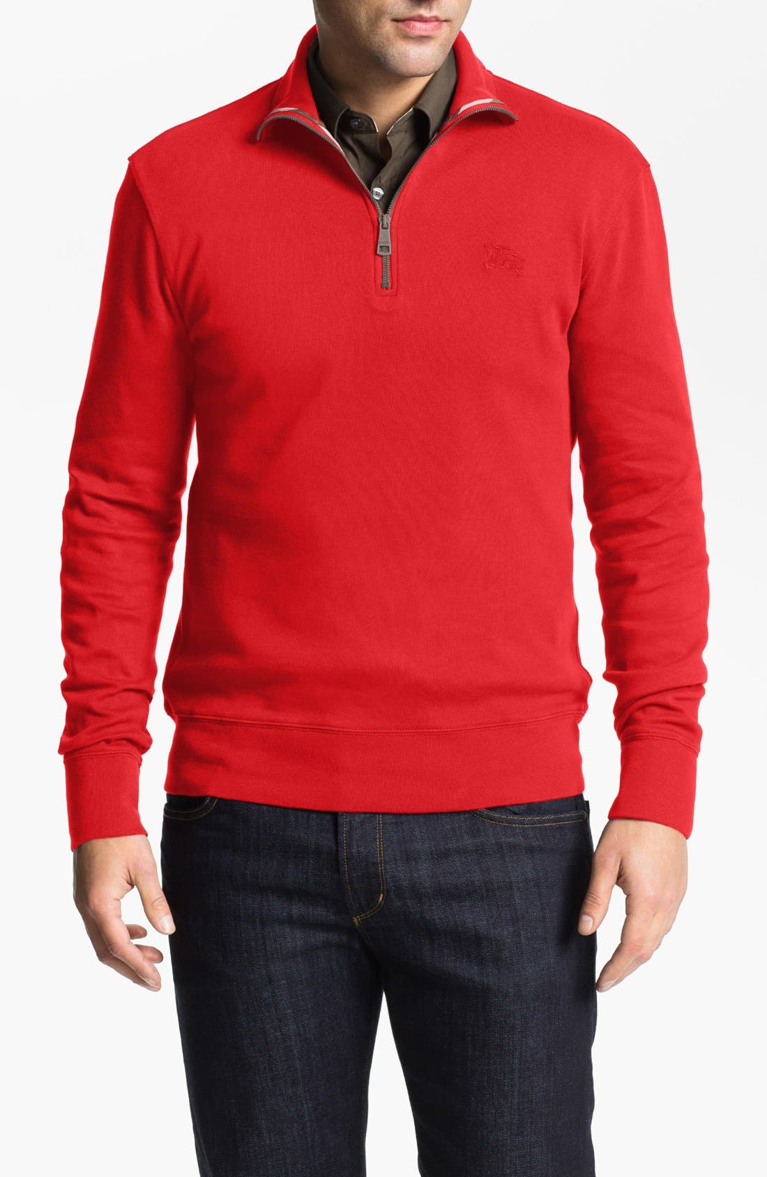 Main Image - Burberry Brit 'Admiral' Half Zip Pullover