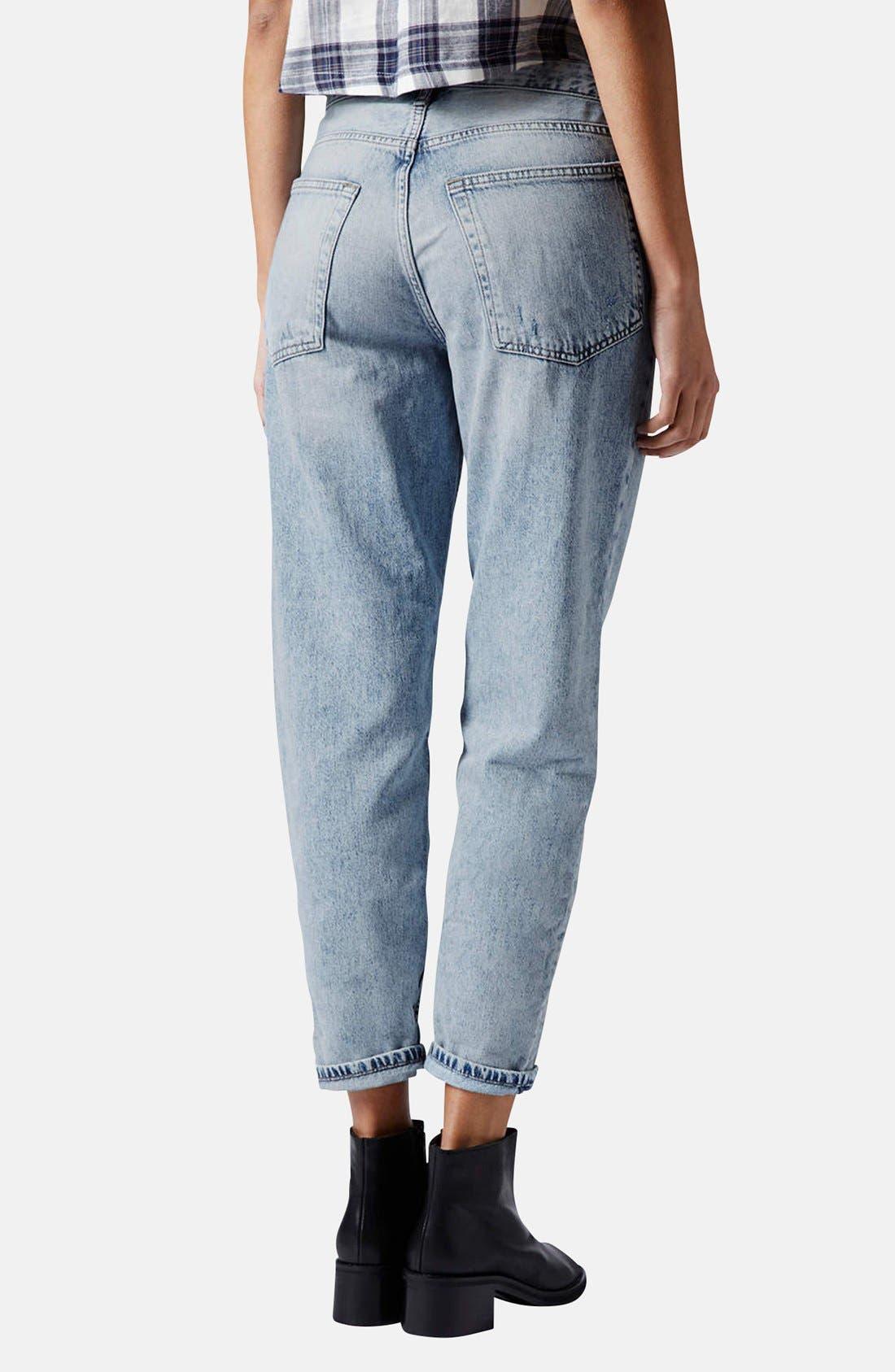 Alternate Image 2  - Topshop 'Hayden' Destroyed Boyfriend Jeans (Light)