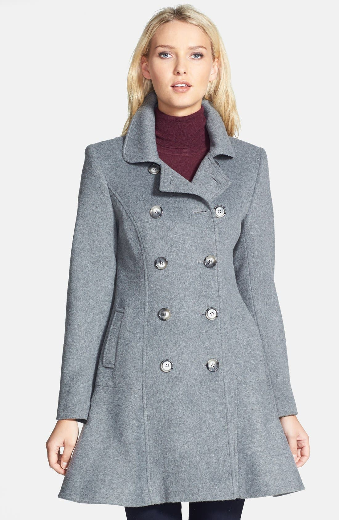 Main Image - Helene Berman Double Breasted Flare Skirt Coat