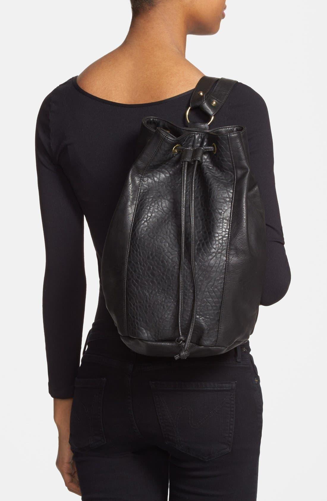 Alternate Image 2  - Lulu Faux-Leather Bucket Backpack (Juniors)