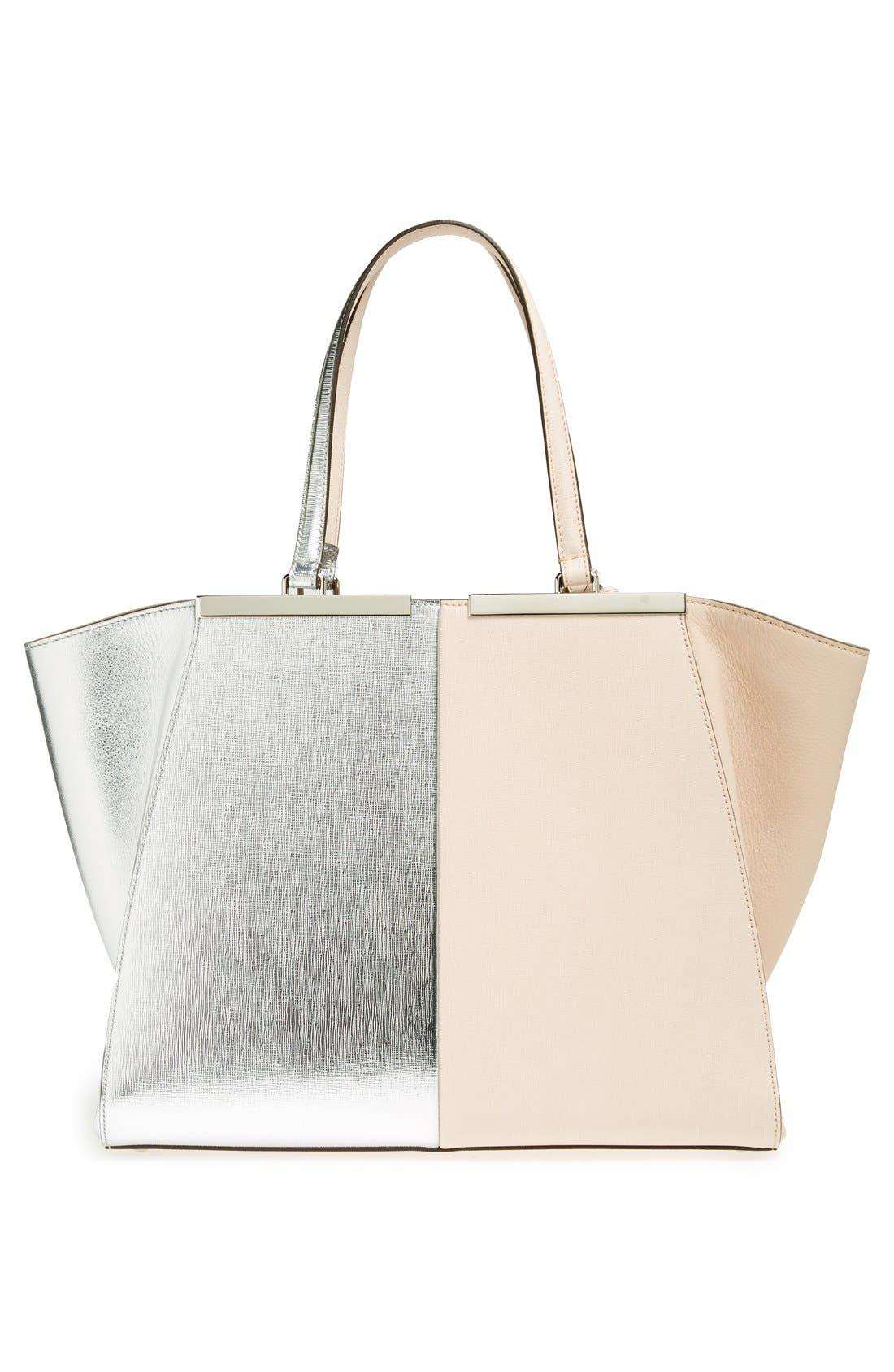 Alternate Image 6  - Fendi '3Jours' Bicolor Leather Shopper