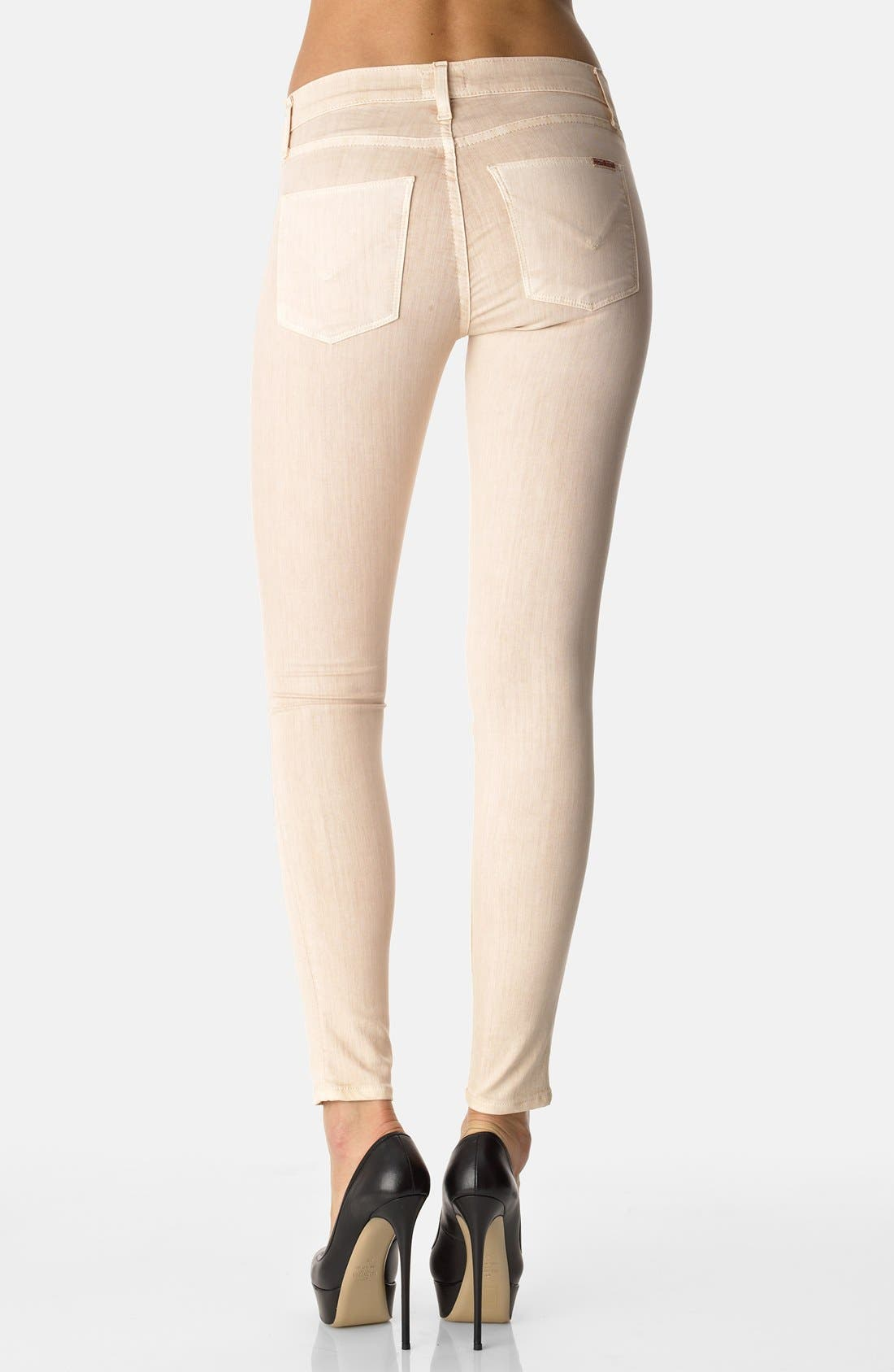 Alternate Image 2  - Hudson Jeans 'Nico' Skinny Overdyed Jeans (Beige)