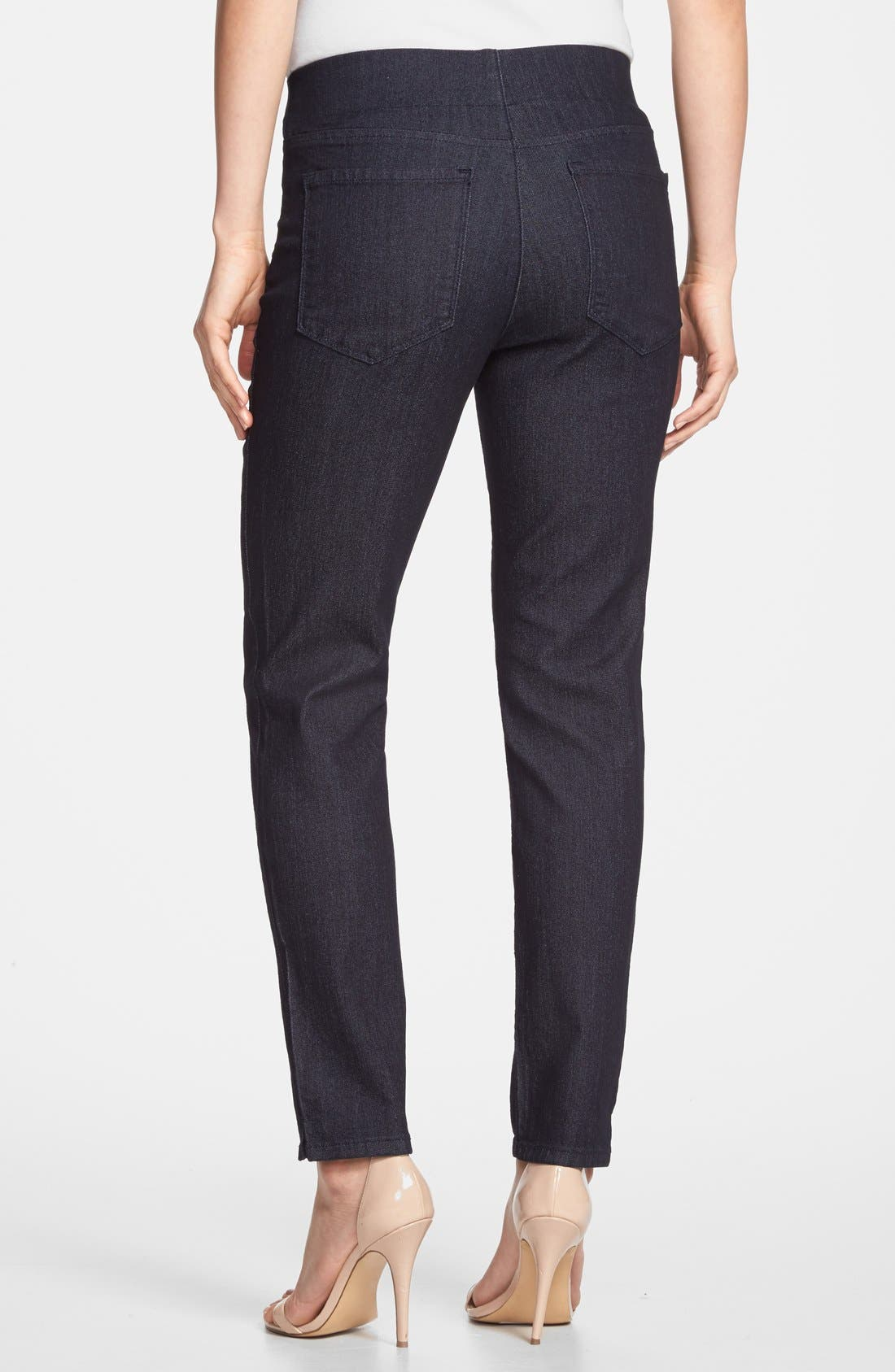 Alternate Image 2  - NYDJ 'Millie' Pull-On Stretch Fitted Ankle Jeans (Dark Enzyme) (Regular & Petite)