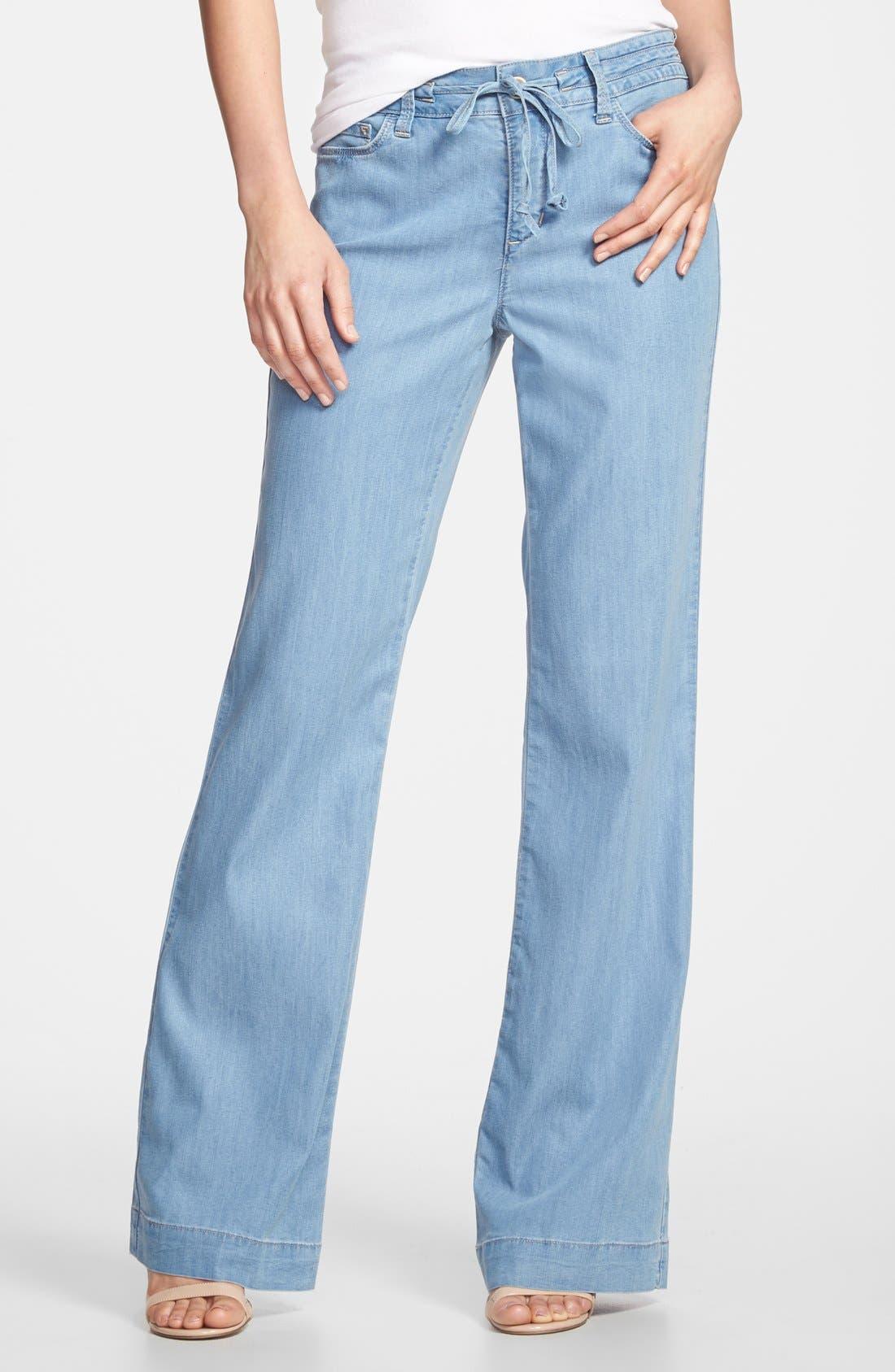 Alternate Image 1 Selected - NYDJ 'Lindsey' Wide Leg Pants (Regular & Petite)