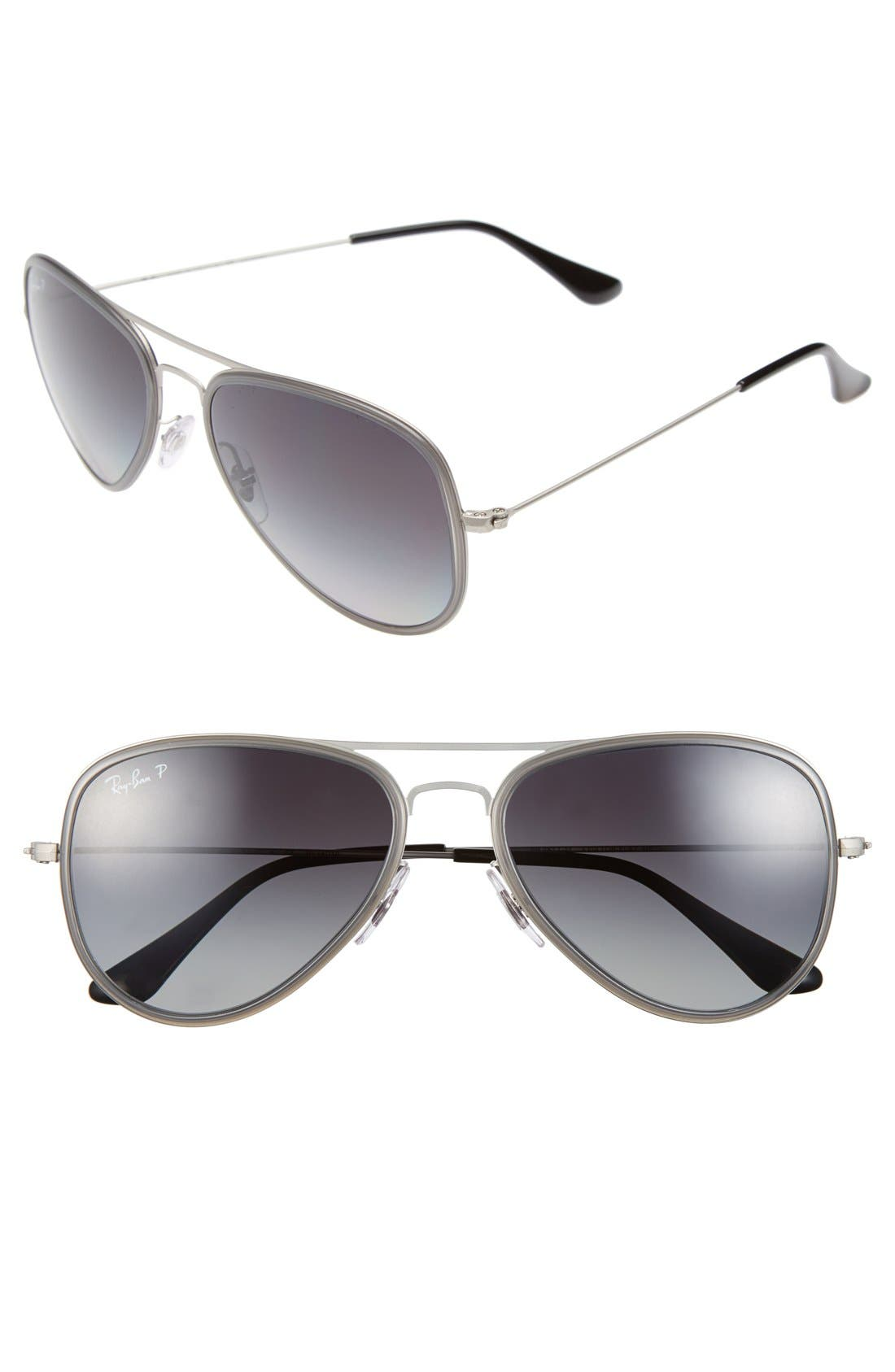 Alternate Image 1 Selected - Ray-Ban 'Icon' 56mm Polarized Aviator Sunglasses