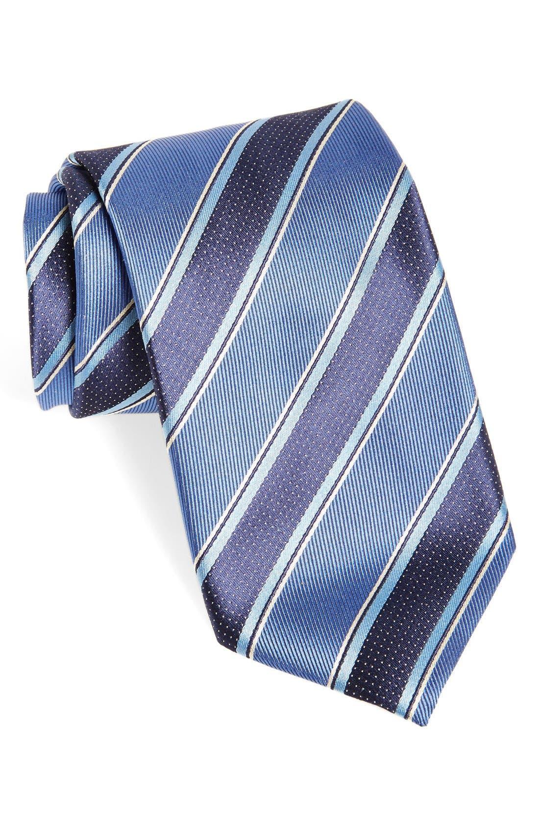 Main Image - Canali Stripe Woven Silk Tie
