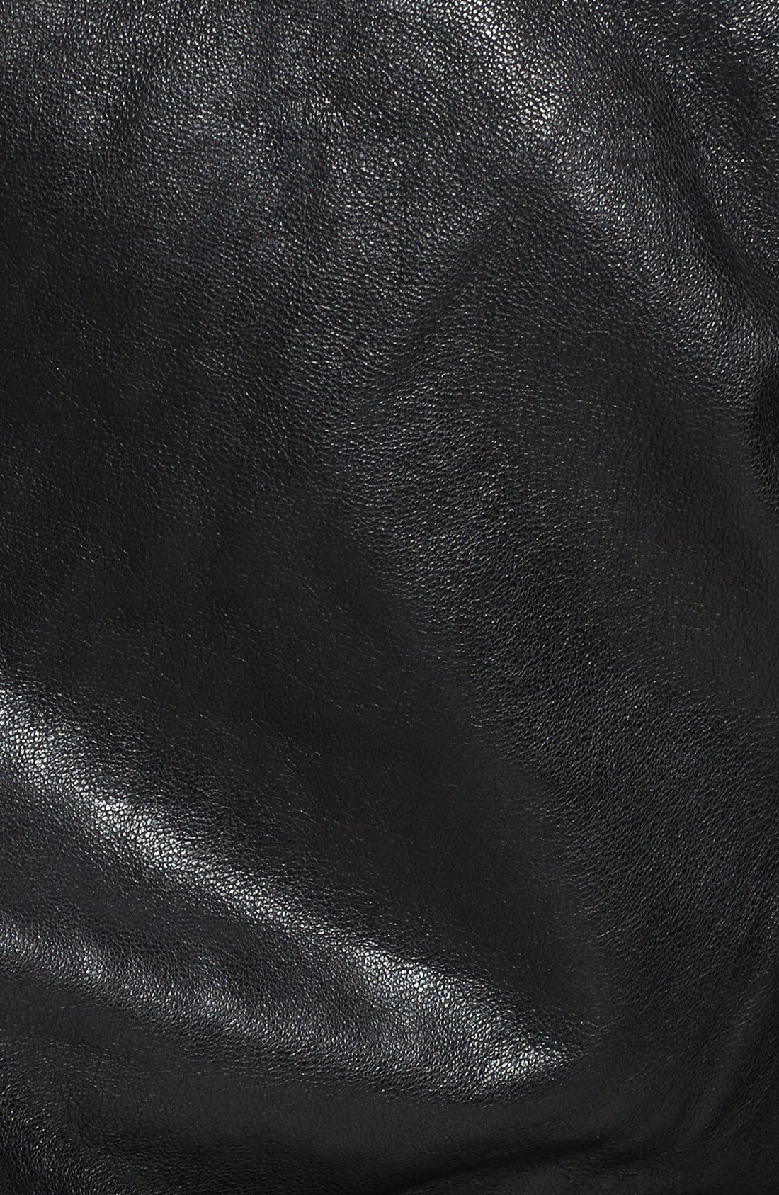 Alternate Image 3  - LAMARQUE Trim Fit Leather Biker Jacket (Online Only)