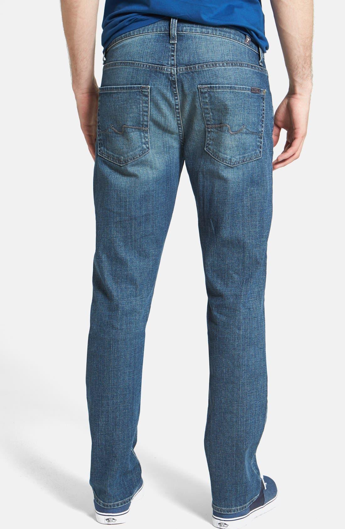 Alternate Image 2  - 7 For All Mankind® 'The Straight' Modern Straight Leg Jeans (Blueridge)