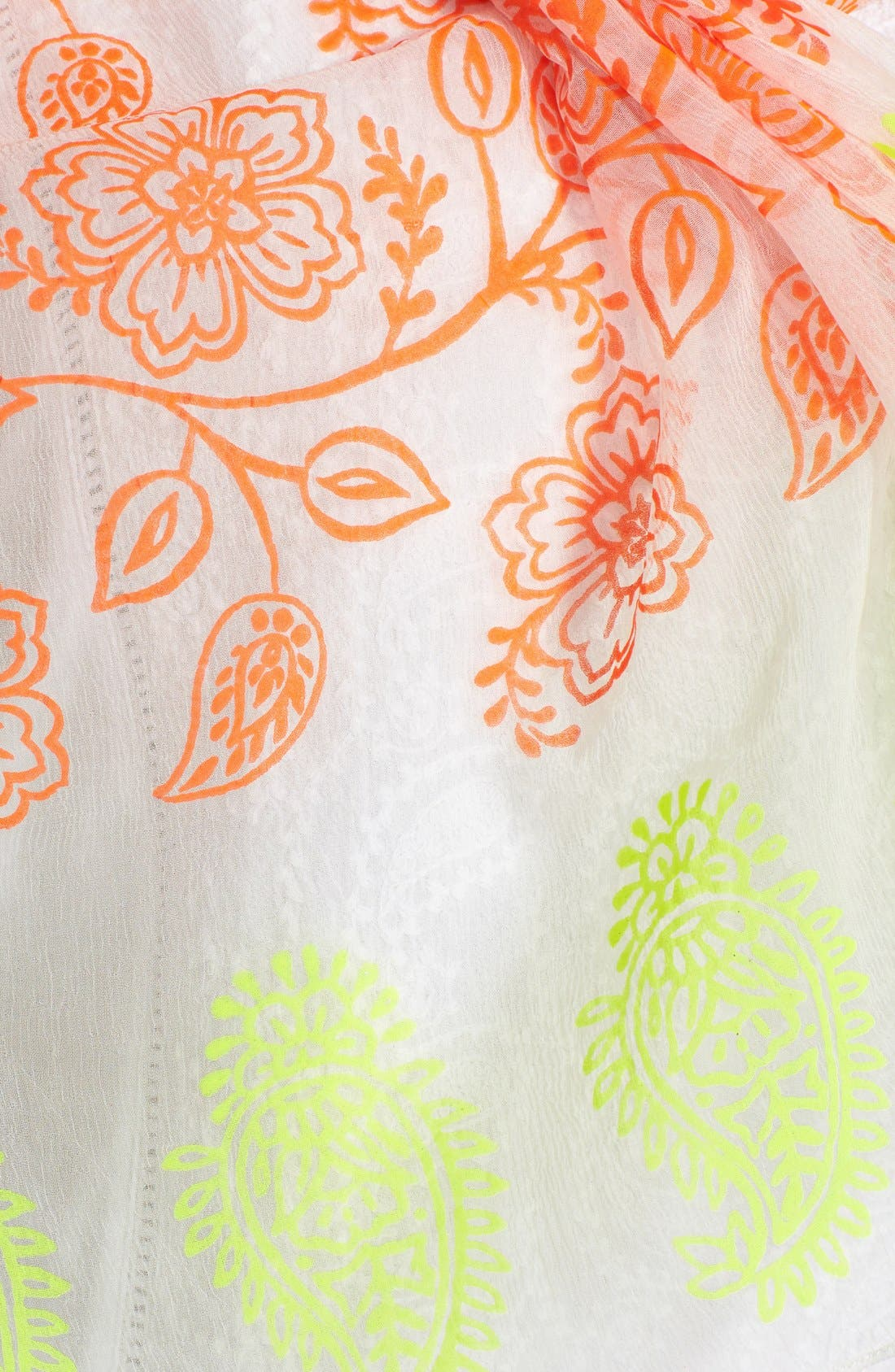 Alternate Image 2  - Lucky Brand Neon Woodblock Print Scarf