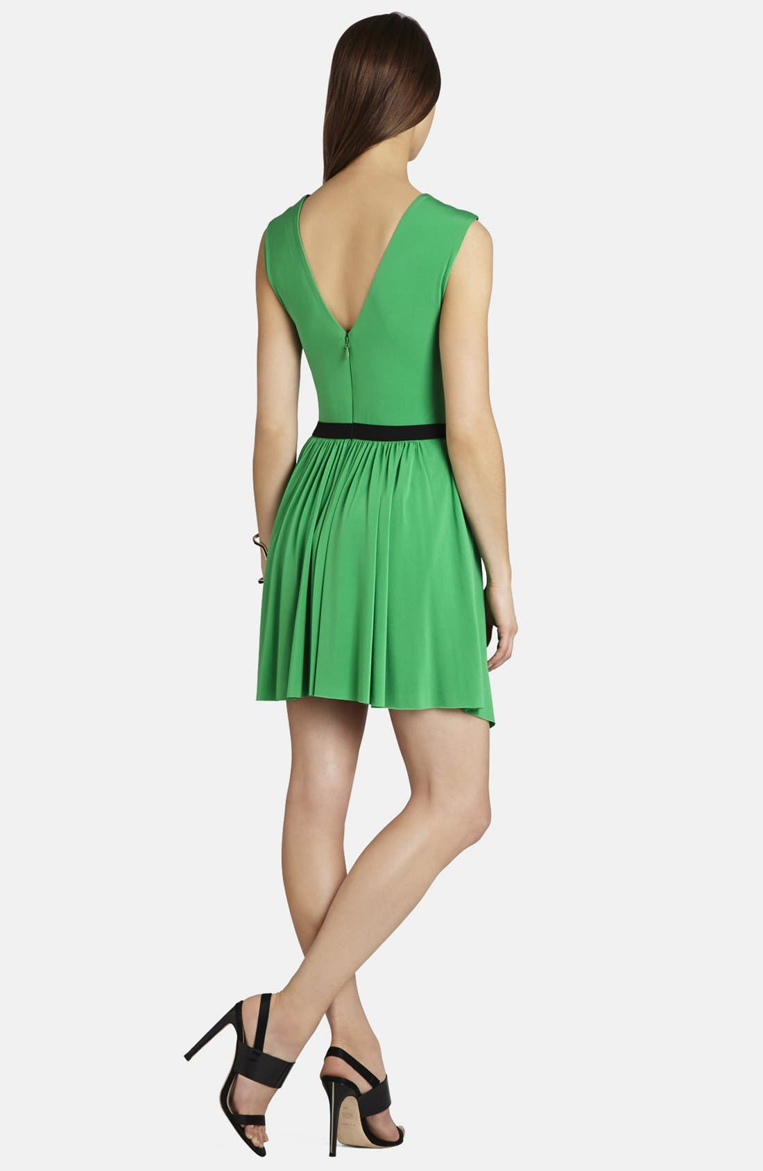 Alternate Image 2  - BCBGMAXAZRIA 'Olyvia' Shirred Matte Jersey Dress