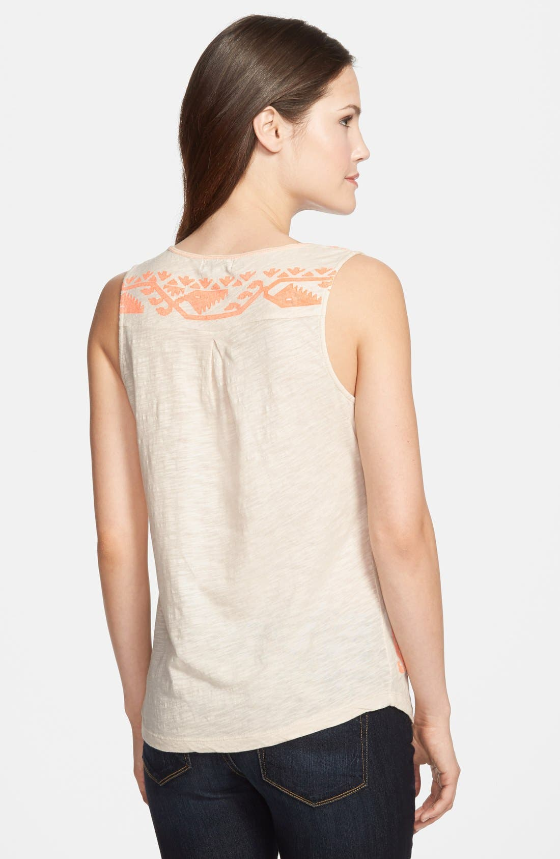 Alternate Image 2  - Lucky Brand 'Neon Border' Tank