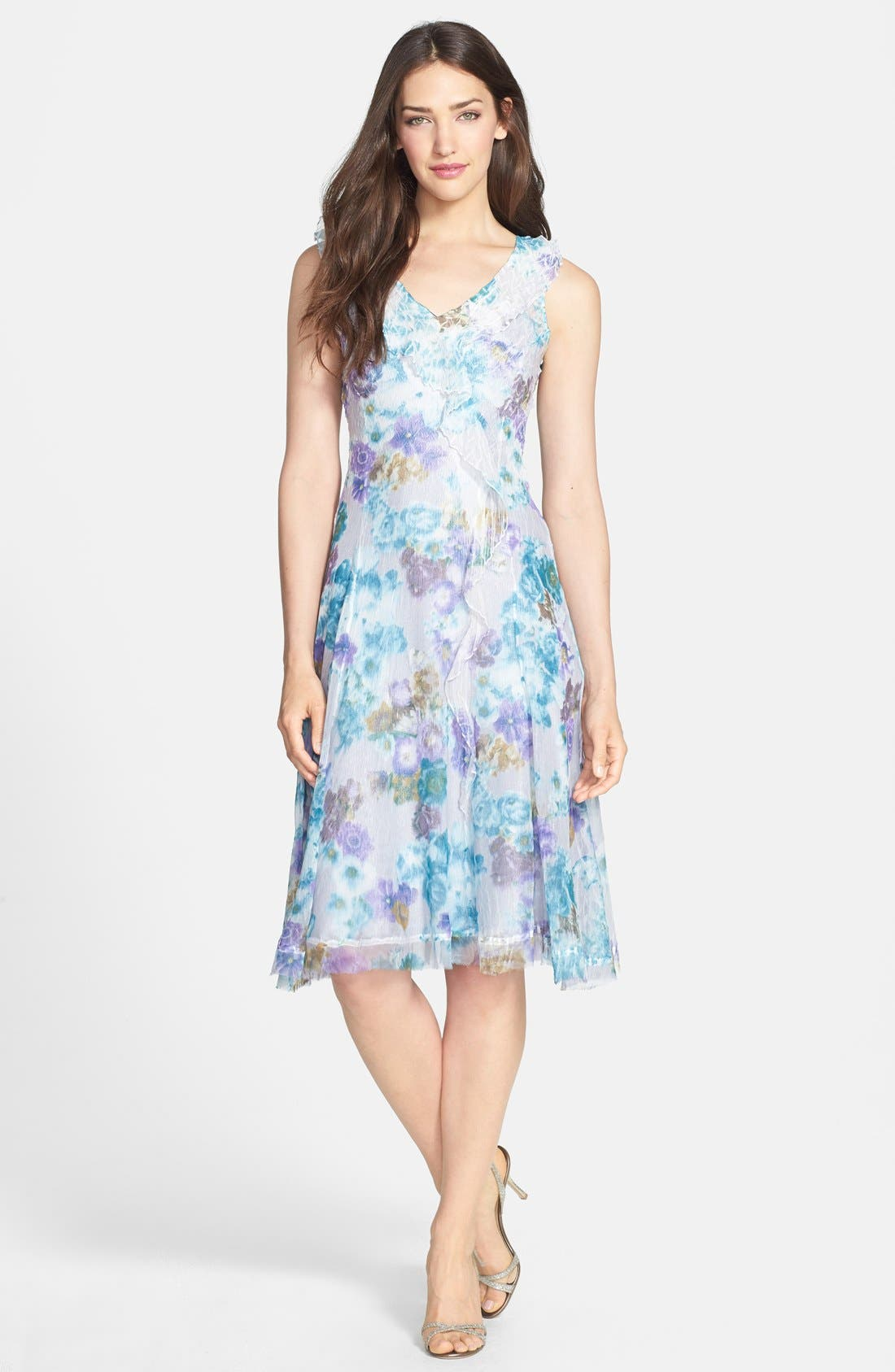 Alternate Image 3  - Komarov Print Ruffled Chiffon Dress