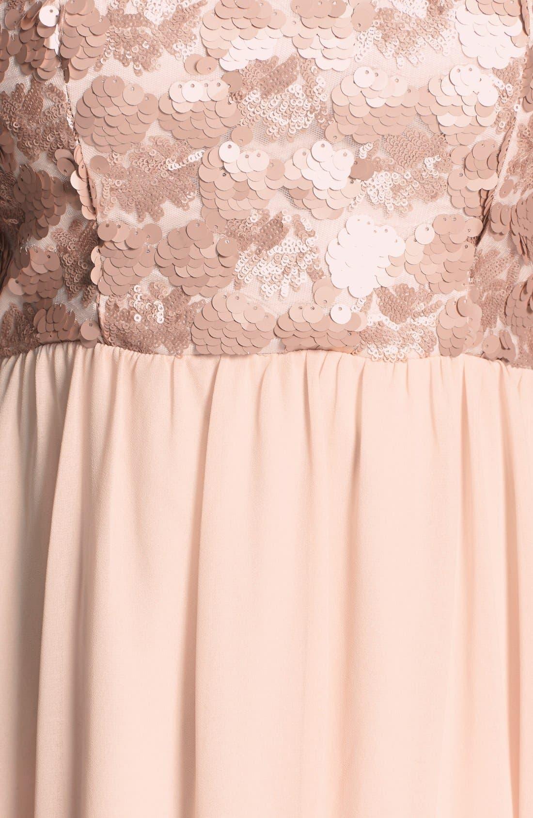Alternate Image 3  - a. drea Sequin Bodice Strapless Gown (Juniors)