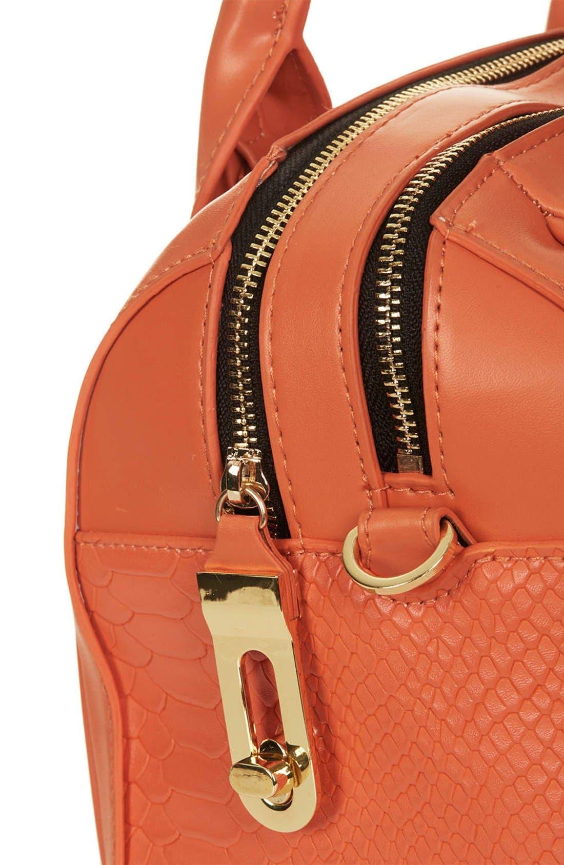 Alternate Image 3  - Topshop Double Zip Faux Leather Bag