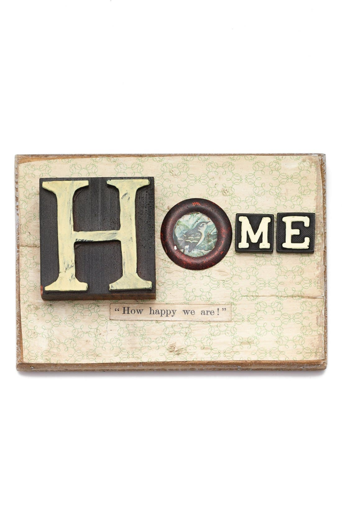 Alternate Image 1 Selected - Creative Co-Op 'Home' Embellished Wooden Wall Art