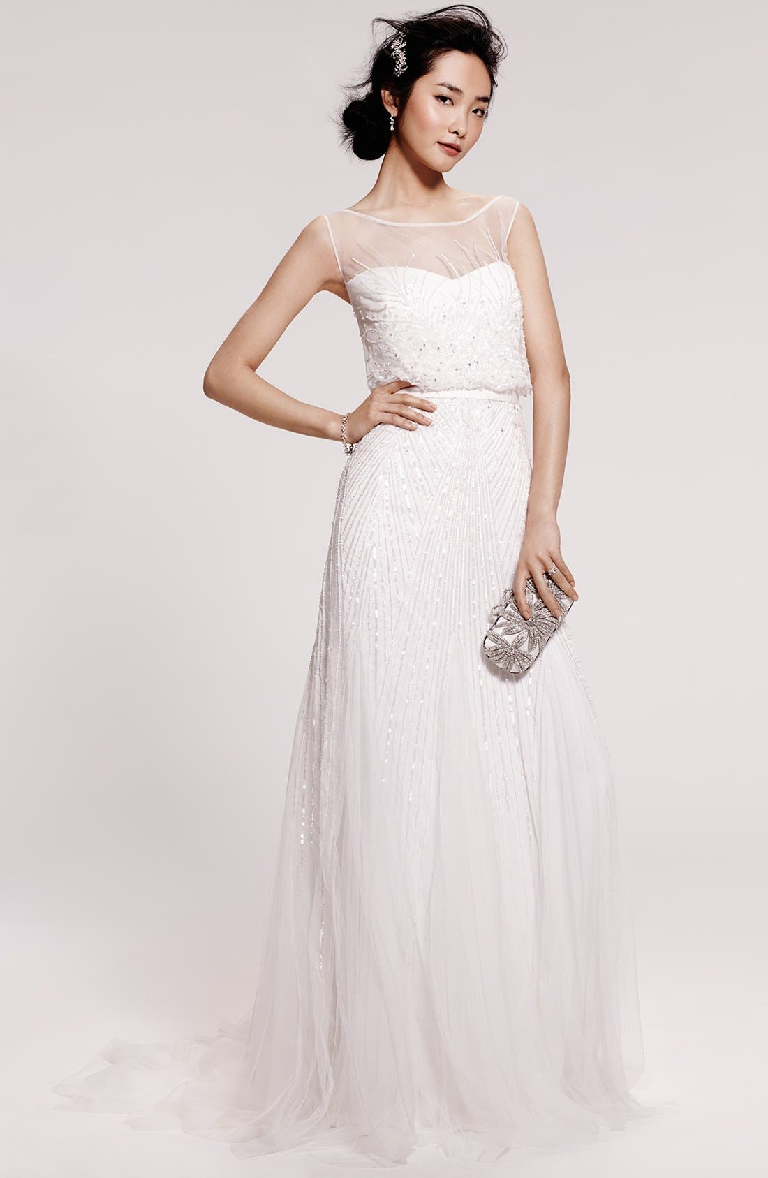 Alternate Image 2  - Rosa Clara 'Ugo' Beaded Sheath Gown (In Stores Only)