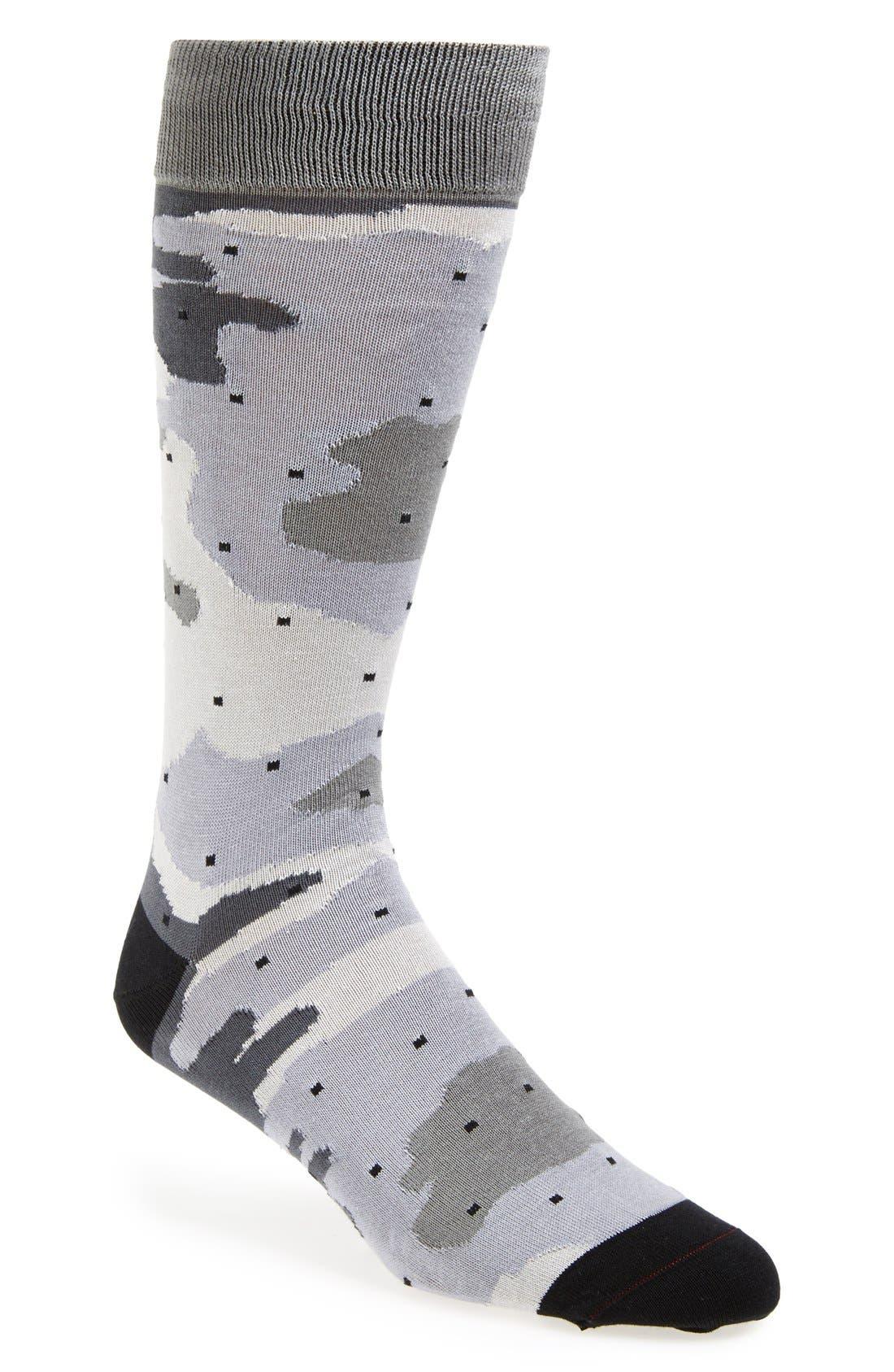 Main Image - Mr. Gray 'Camo Dot' Socks