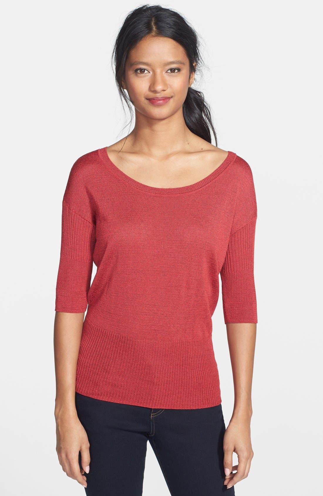 Alternate Image 1 Selected - NIC+ZOE 'Easy' Ribbed Pullover (Regular & Petite)